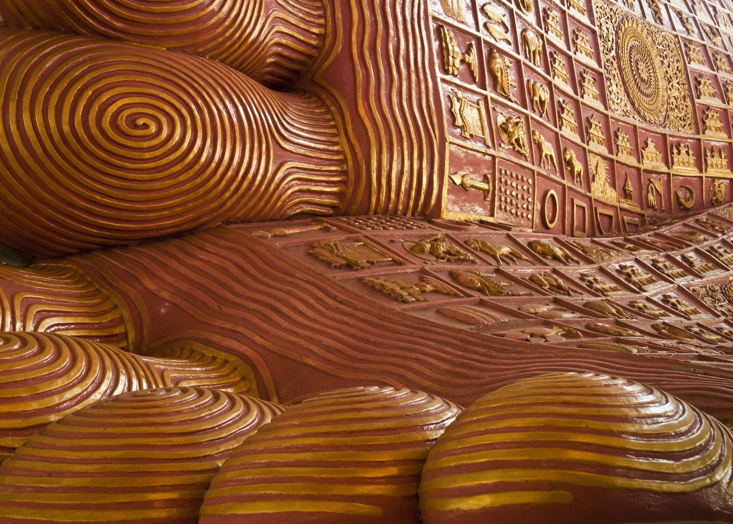 Zach - Chaukhtatgyi Paya Reclining Buddha Feet Yangon.jpg