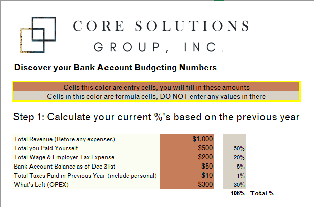 Customized to Your Firm - Sit back and let this tool automatically calculate what your numbers are and help you determine what they actually should be.You might be surprised with what you find your firms spending habits have been doing to or for your profit.