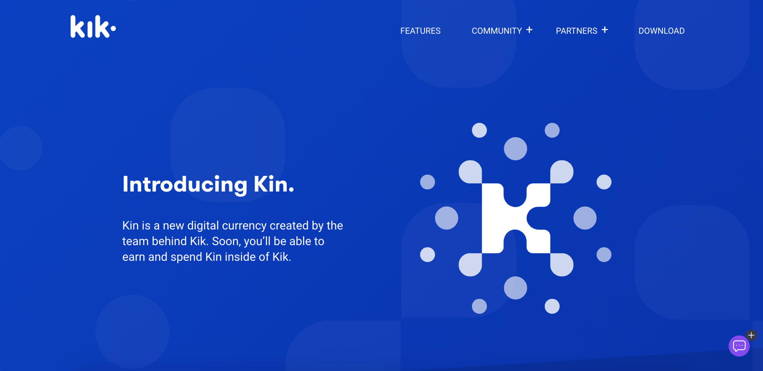 Kin, Kik Interactive's own virtual currency.