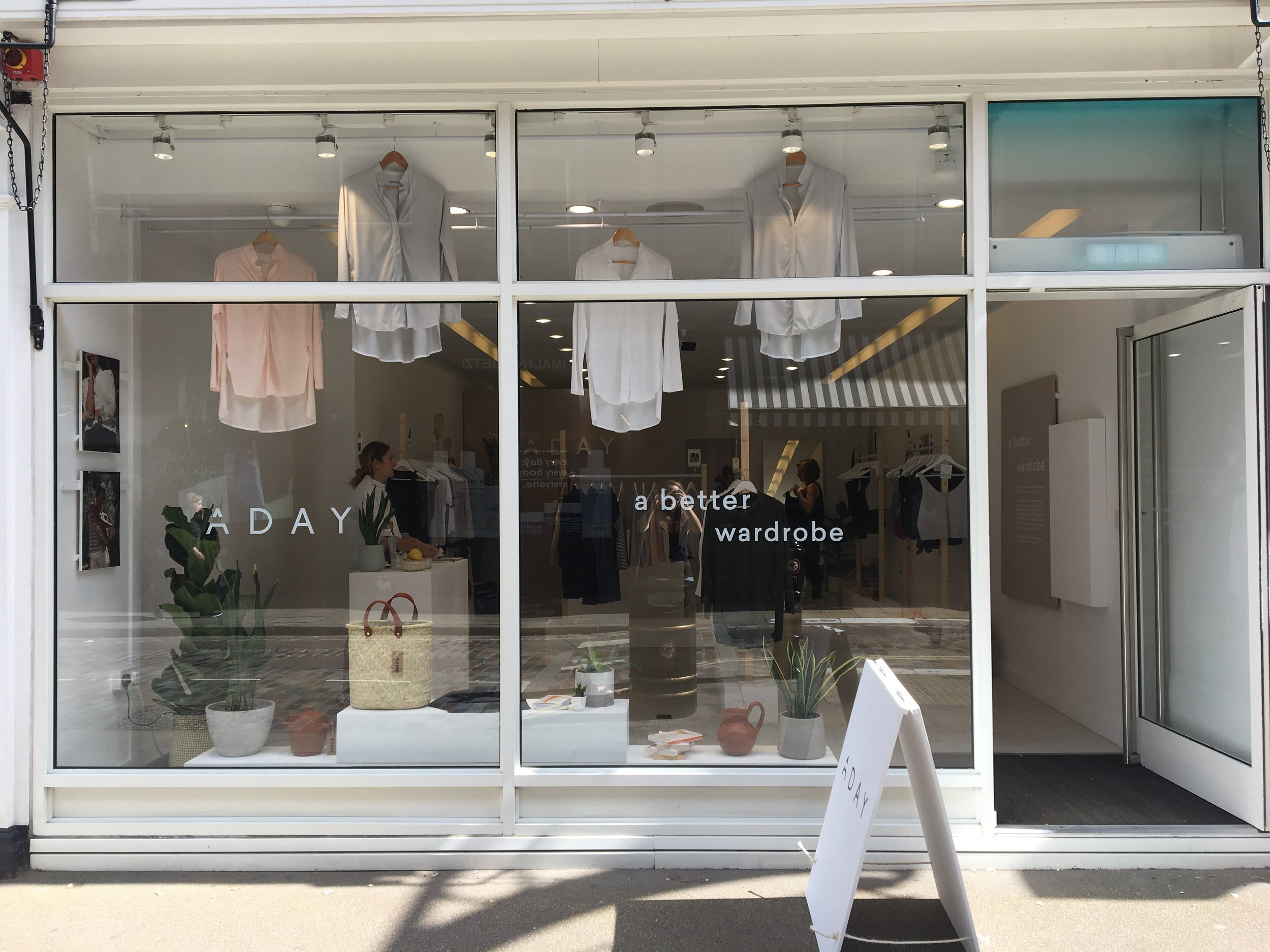 ADAY Pop up - retail / Convent Garden