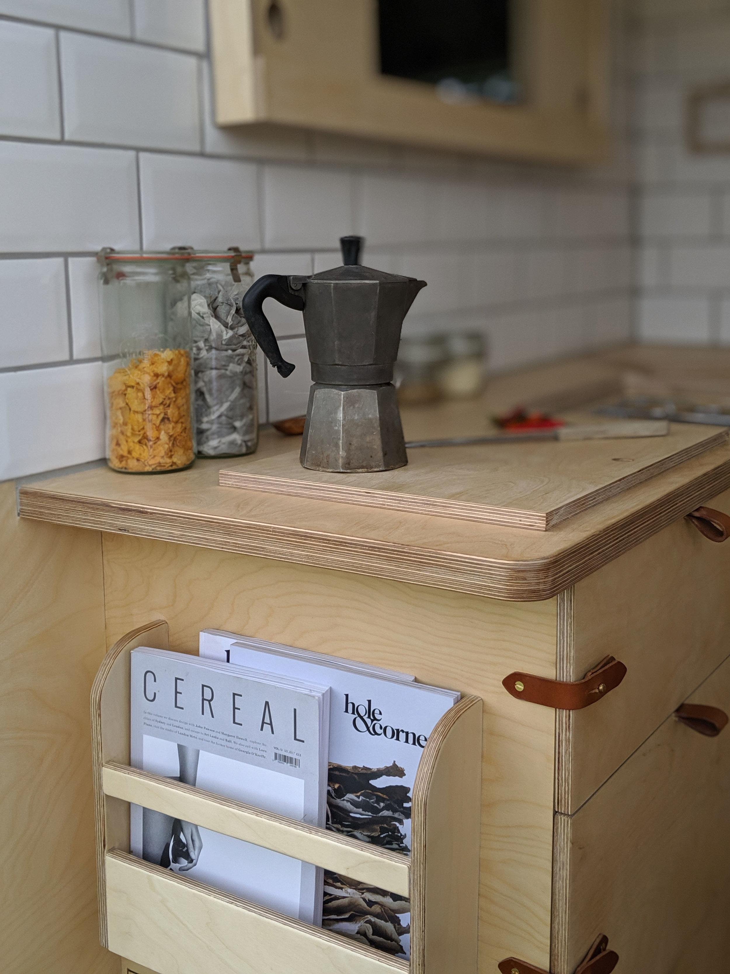 OOOD van kitchen detail