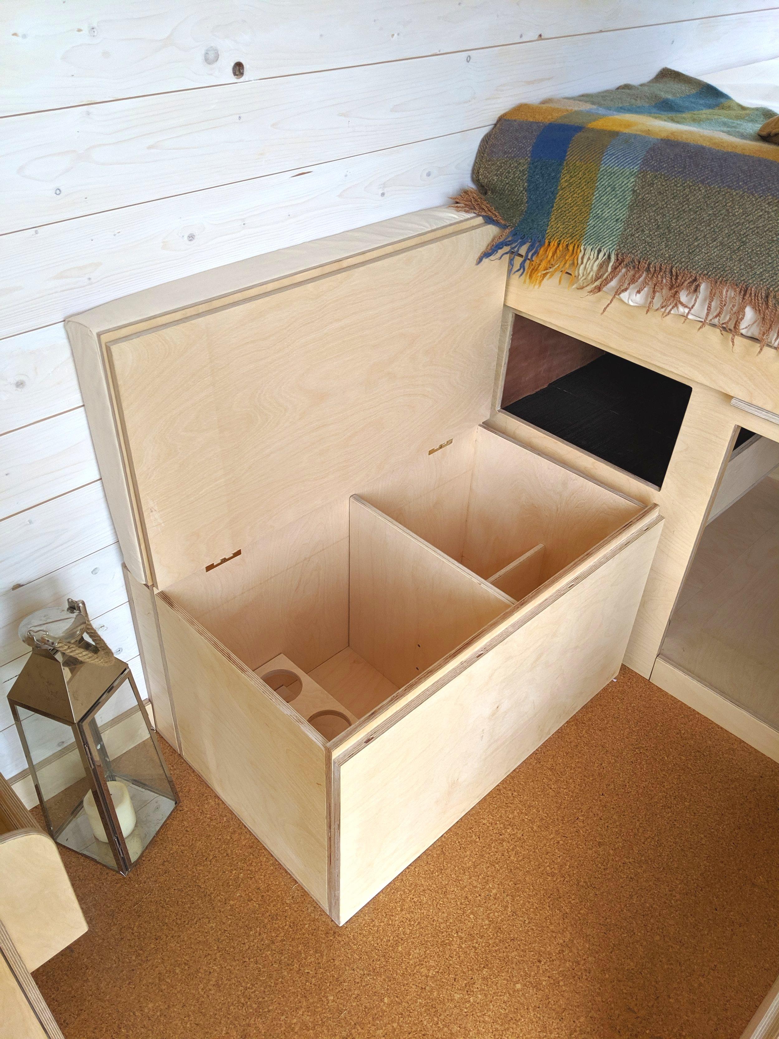OOOD van under bench storage