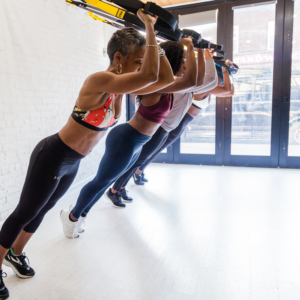 STRONG - Functional strength and resistance training. Using TRX Suspension straps, resistance bands and body weight, work up a sweat and build strength in a circuit format while continuing to work on proper form and alignment. *SNEAKERS ARE REQUIRED*