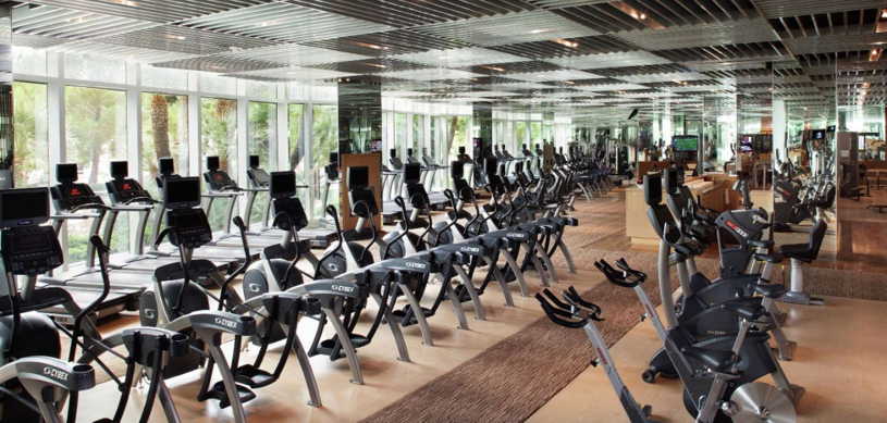 The Gym at the Aria in Las Vegas is pretty spectacular...as is everything in Vegas.