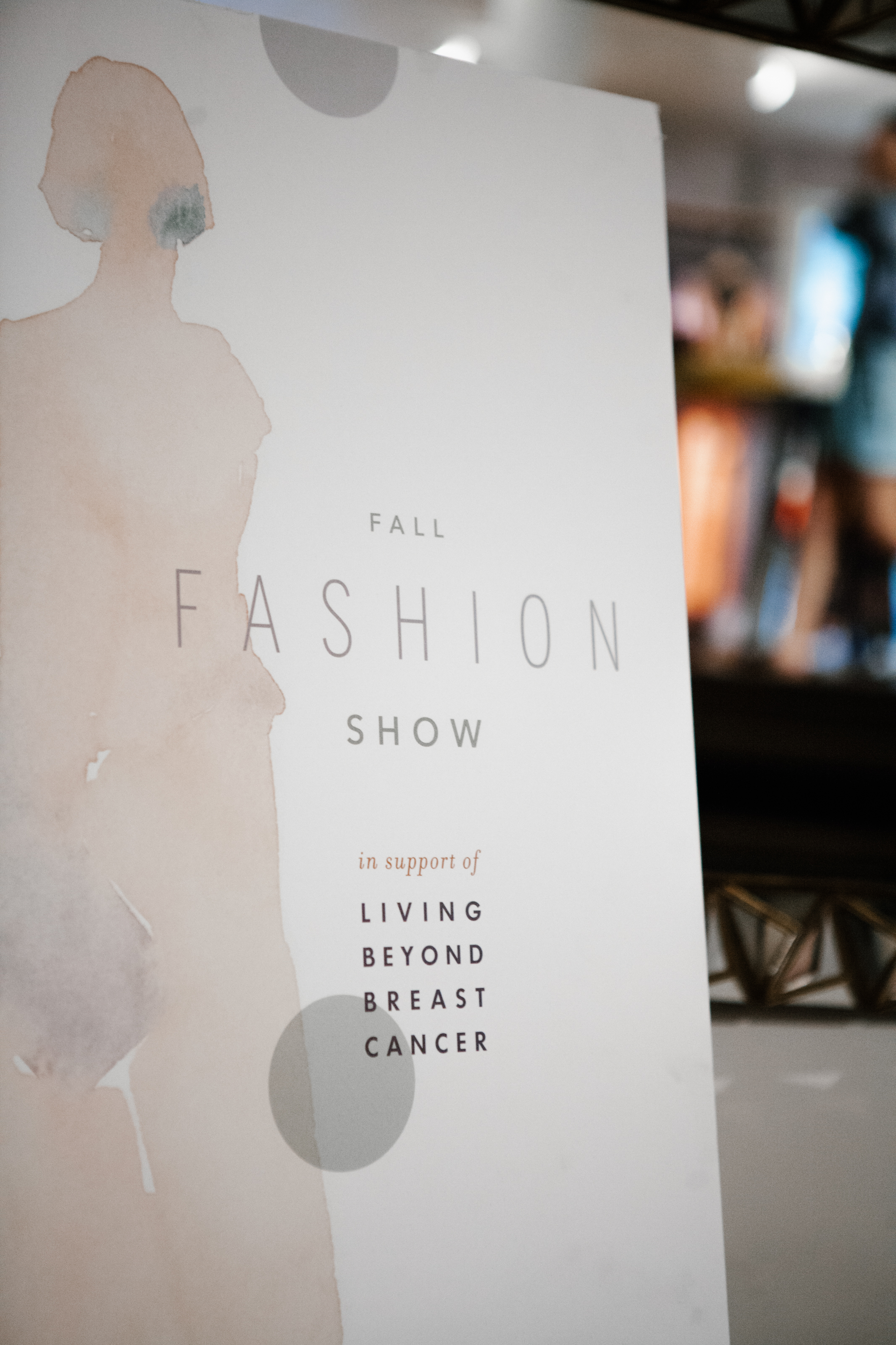 The show's proceeds benefited Living Beyond Breast Cancer.