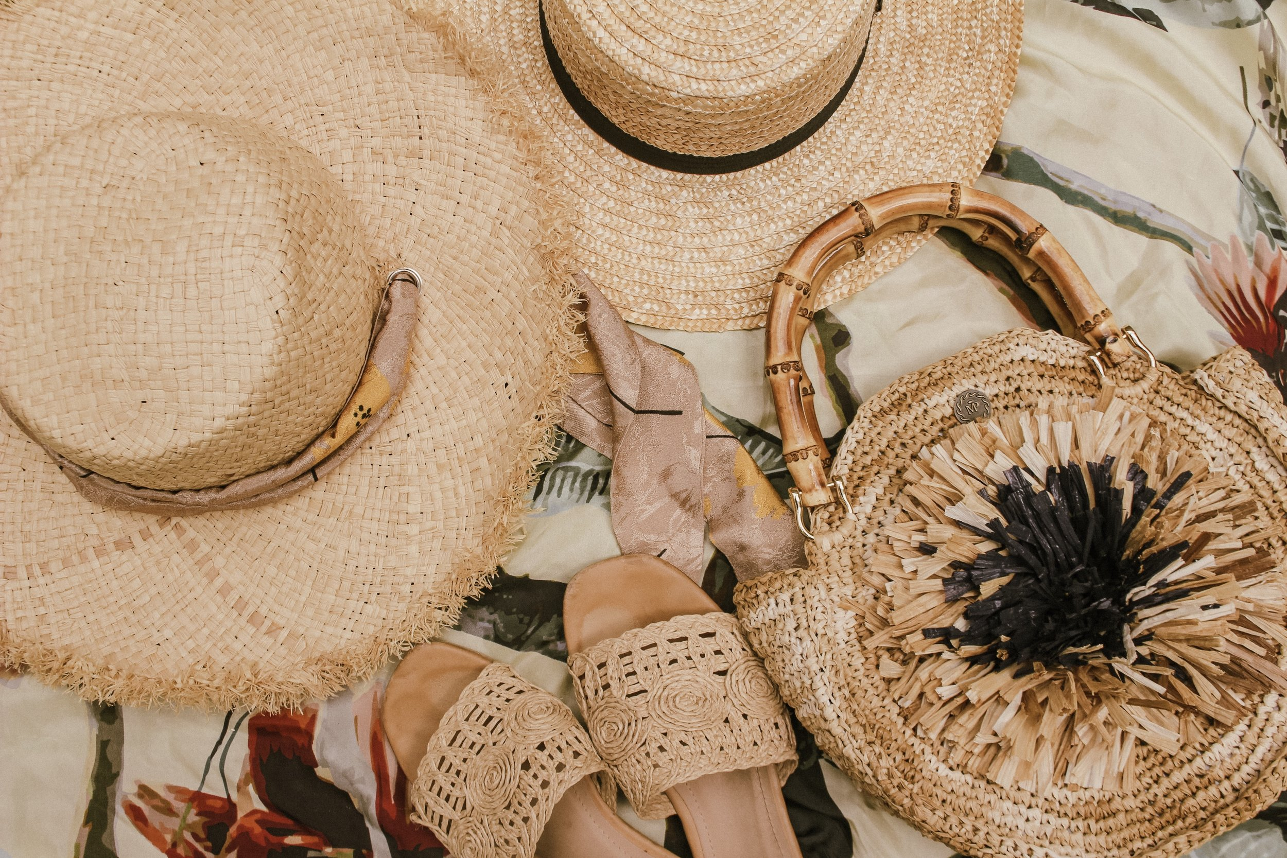Straw everything! - I got the beachy straw hat 2 summers ago, and the other straw hat almost 4 years ago! I bring them out every spring and summer.