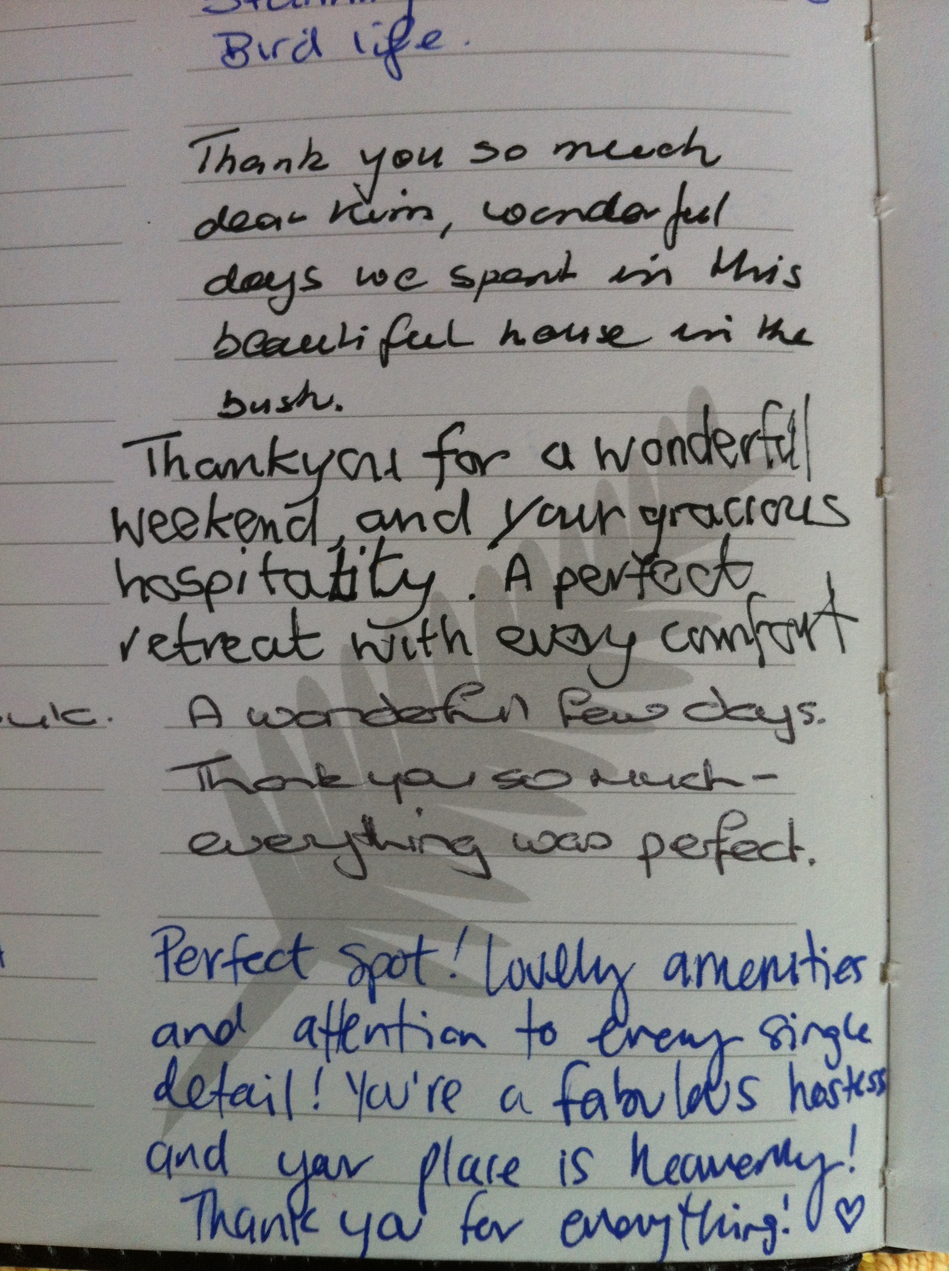 More from the in-house Guest Book