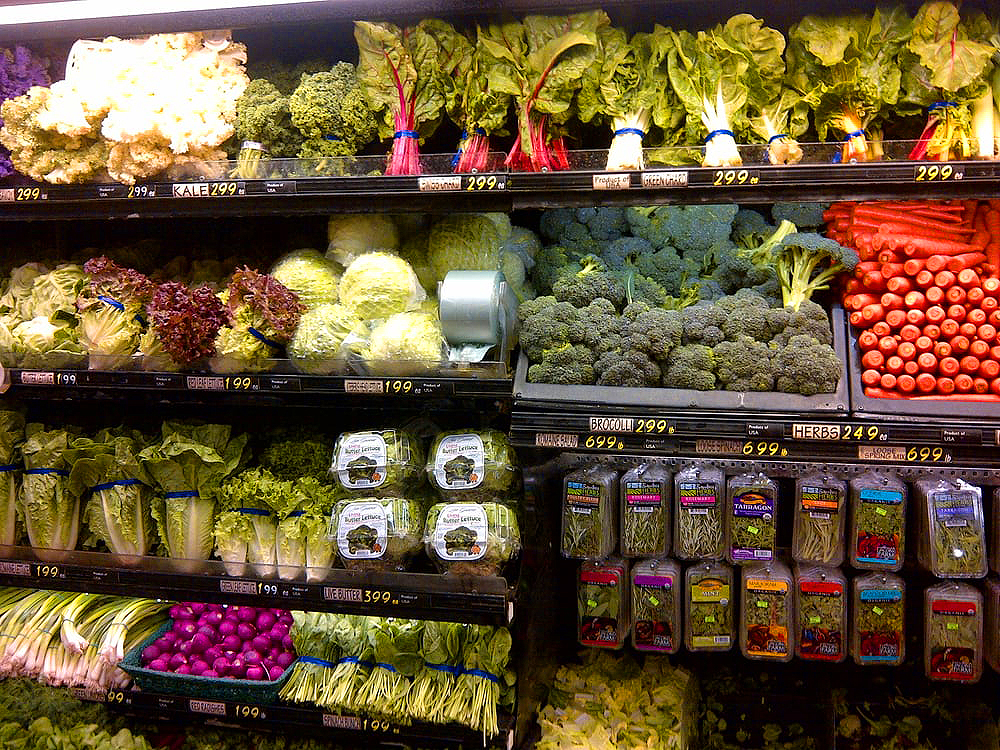 WELL-STOCKED, FRESH PRODUCE AT THE VILLAGE MARKET