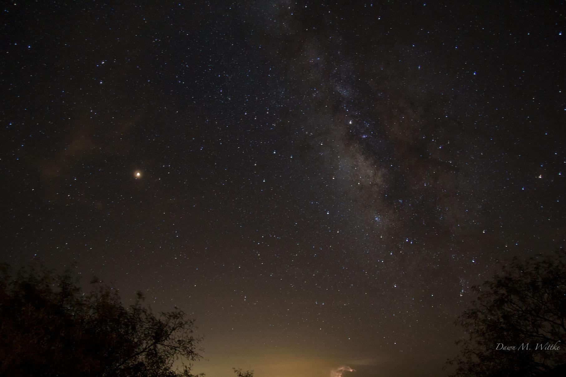 Milky Way & Mars    Photo by Dawn M. Wittke    Taken at Kartchner Caverns State Park, Arizona     .      .      .