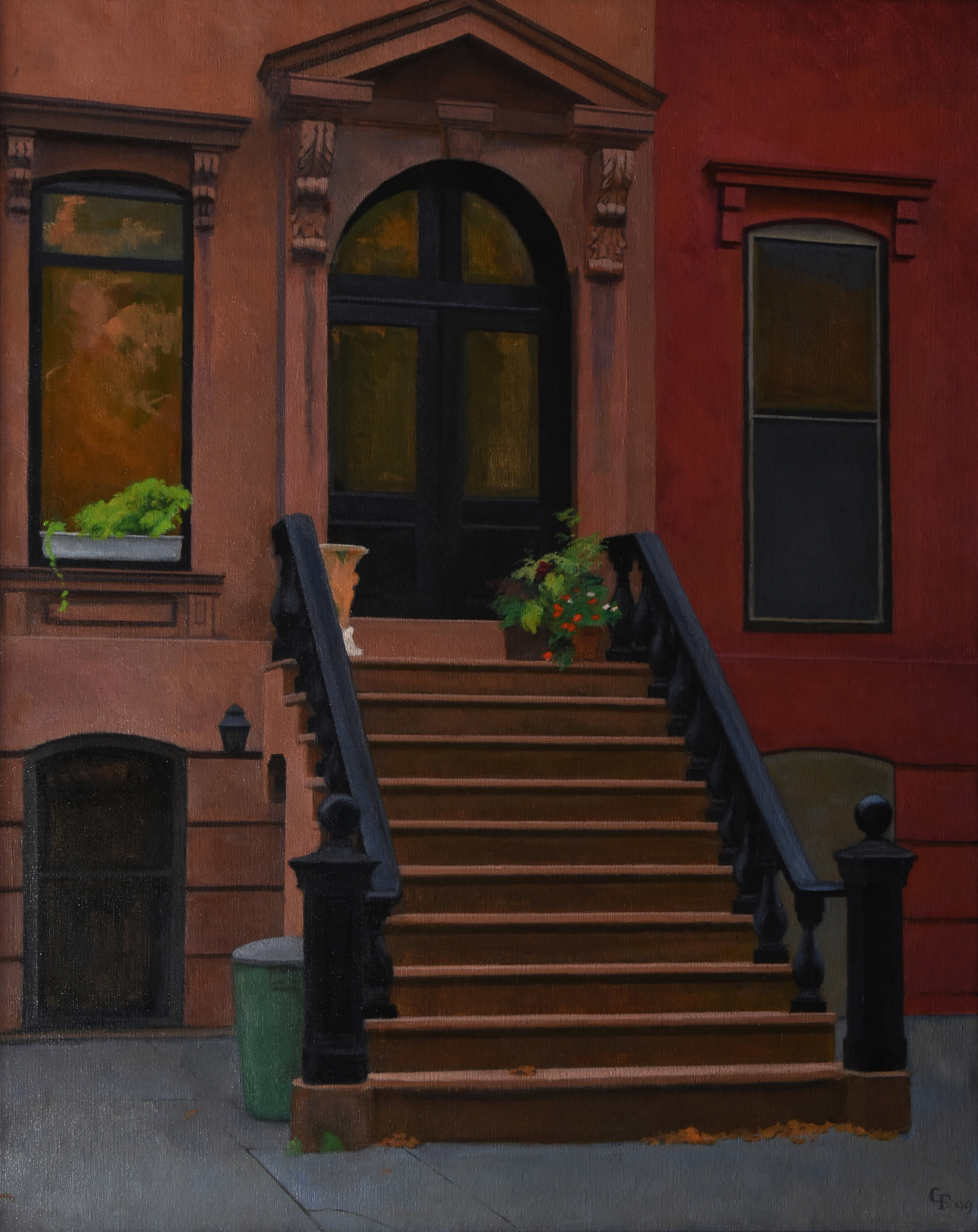 "Stoop, oil on canvas, 30"" x 24"""