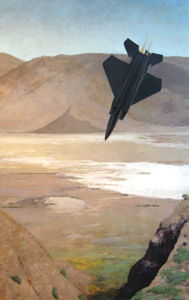 "Death Valley Jet, oil on canvas, 36"" x 22"" SOLD"