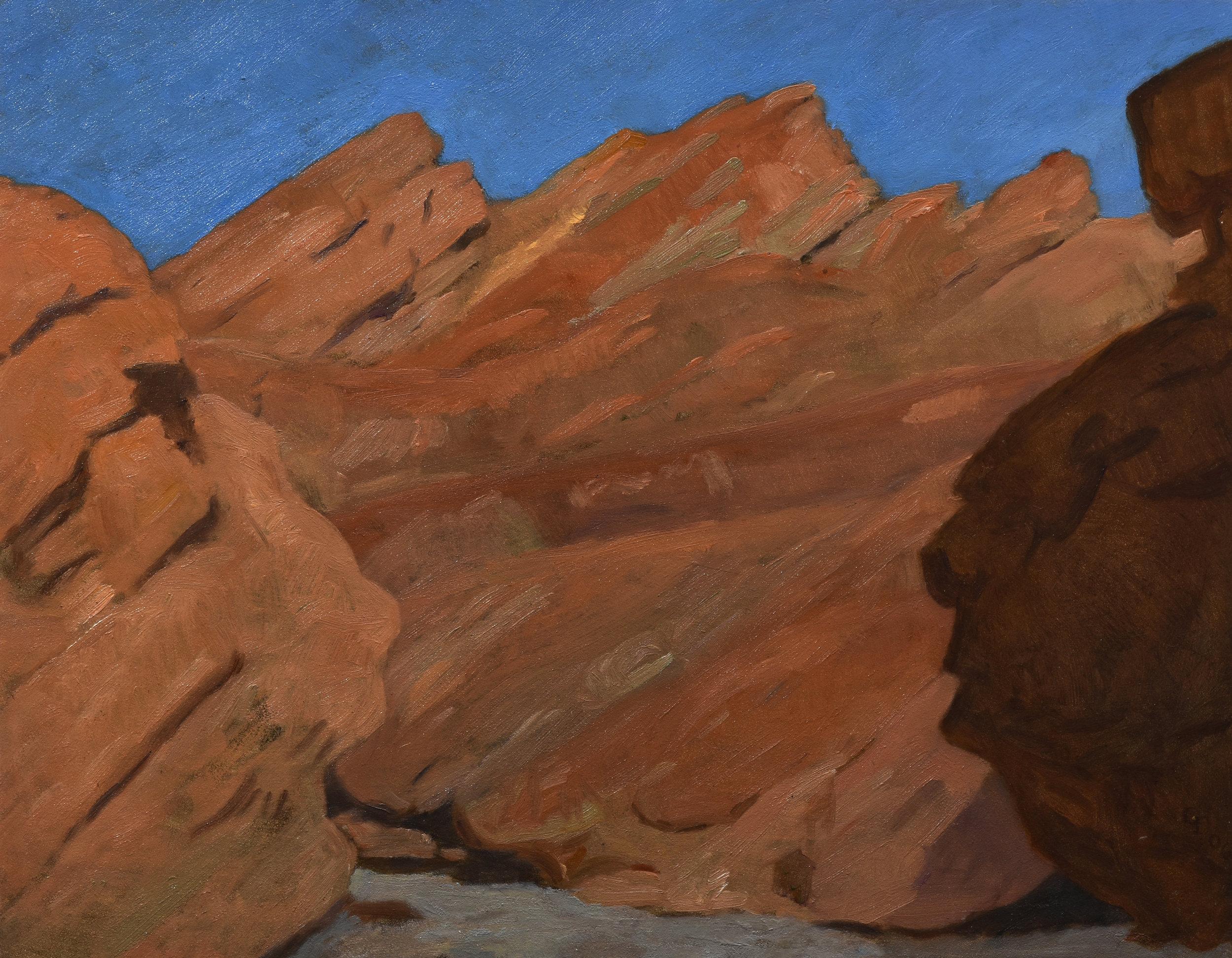 """Golden Canyon II, oil on panel, 11"""" x 12"""""""