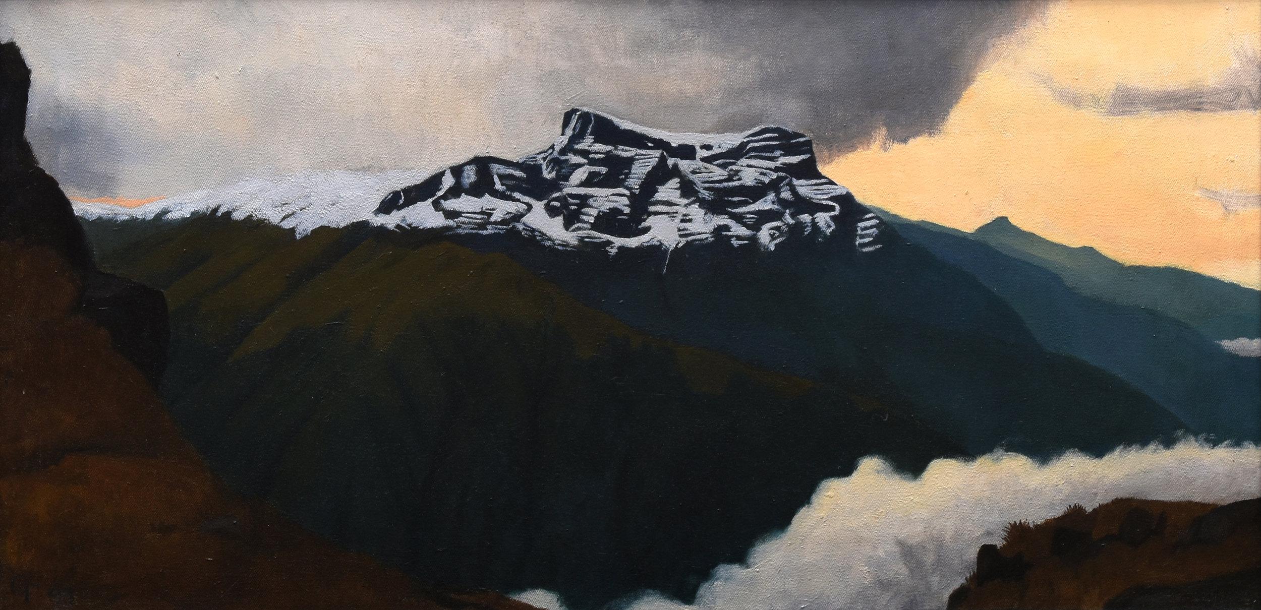 """Bolivian Panorama II, o/c, 13"""" x 26"""""""
