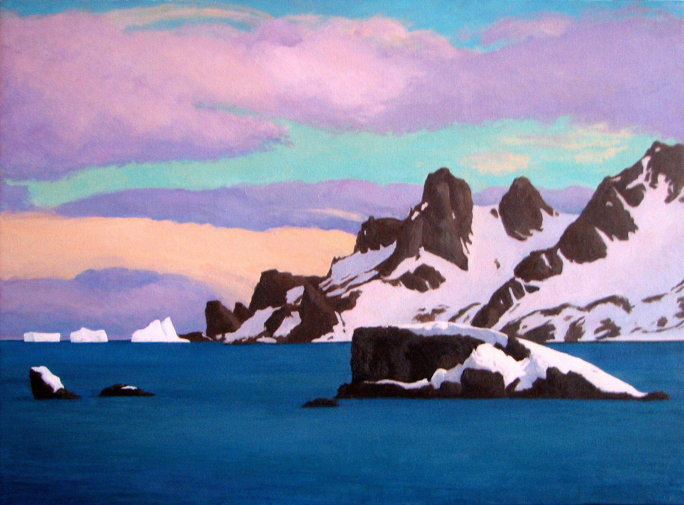 "Paradise Bay Antarctica o/c 18""x24"" SOLD"