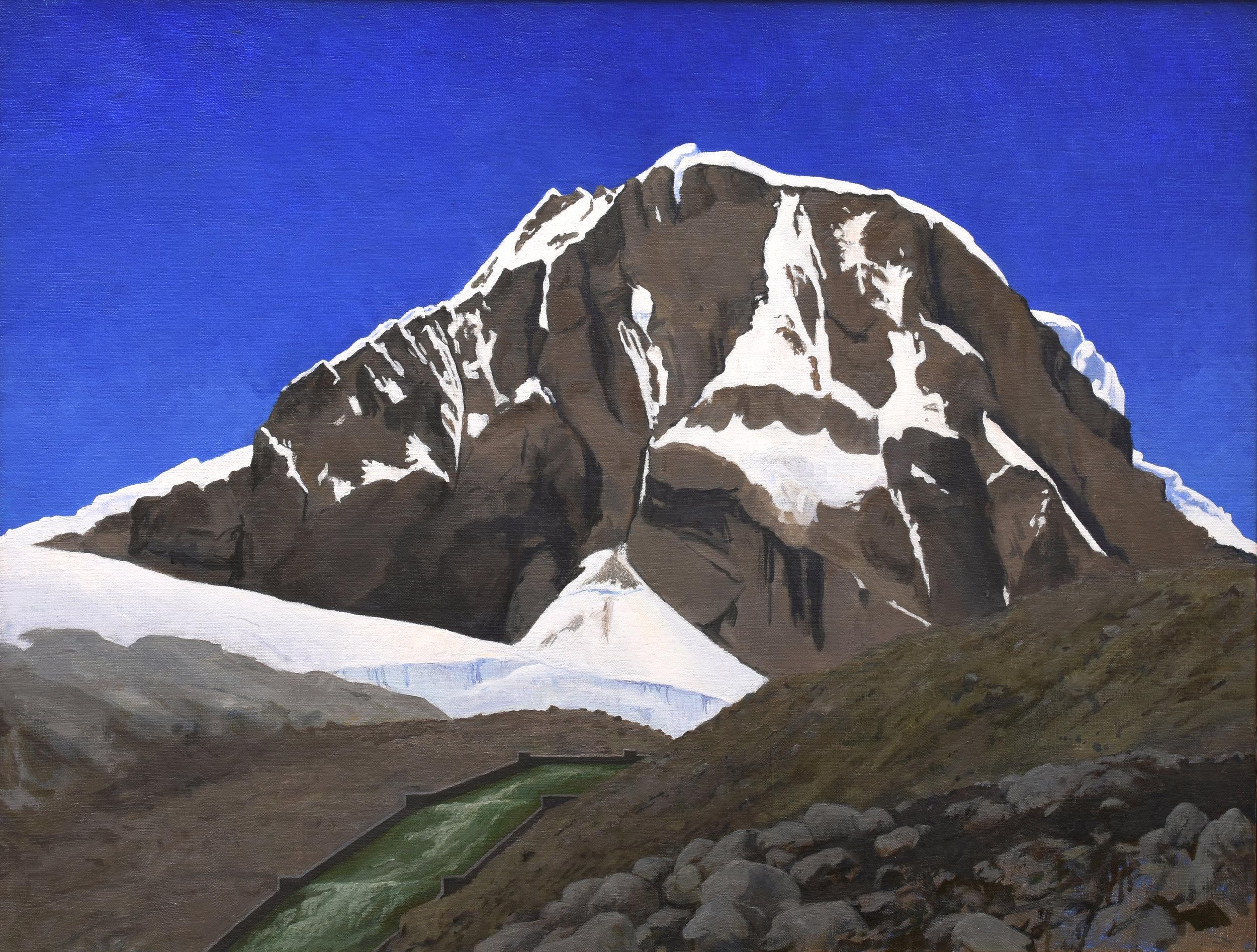 "Ranrapalca, Peru, oil on canvas, 20"" x 26"""