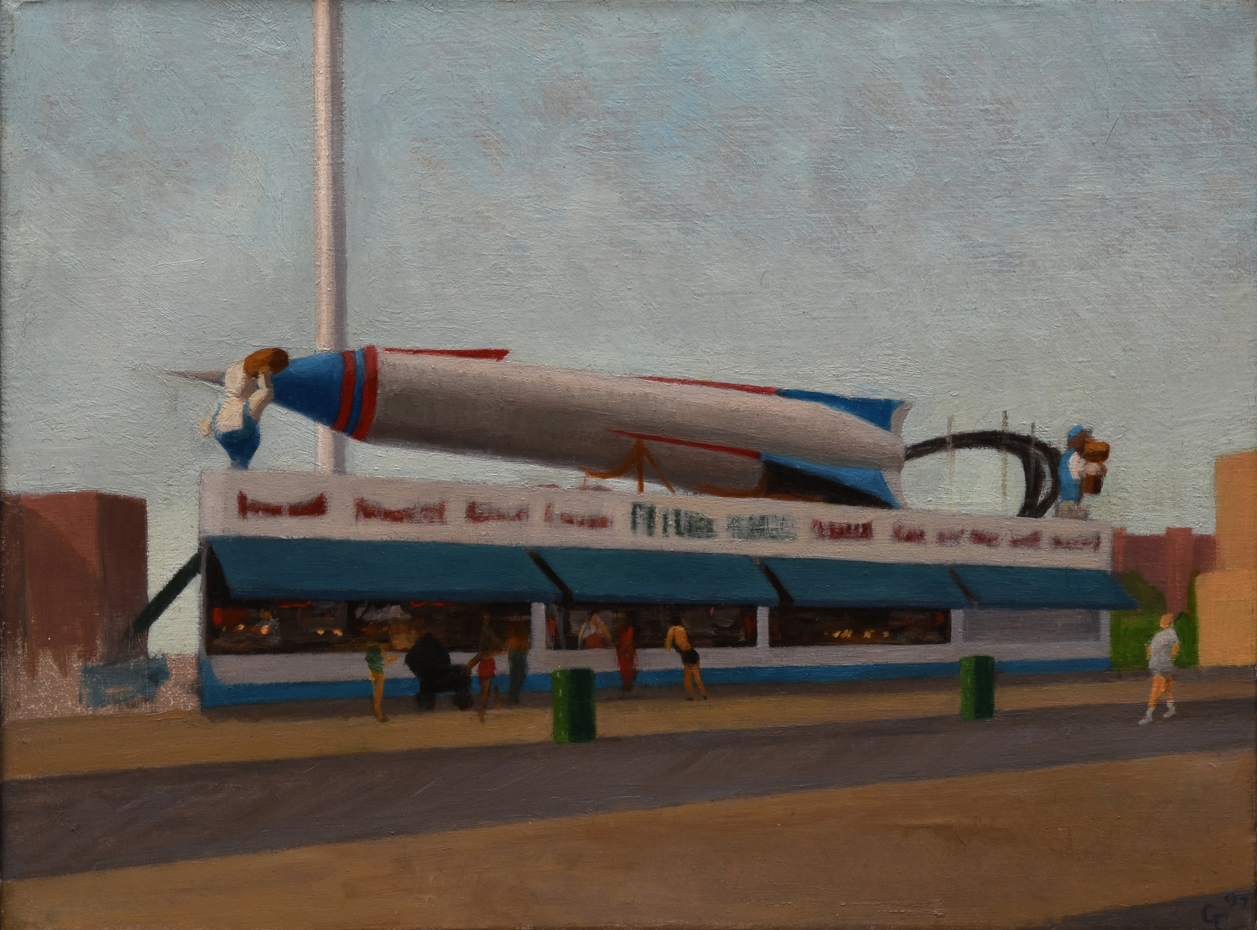 """Astroland, oil on canvas, 12"""" x 16"""""""