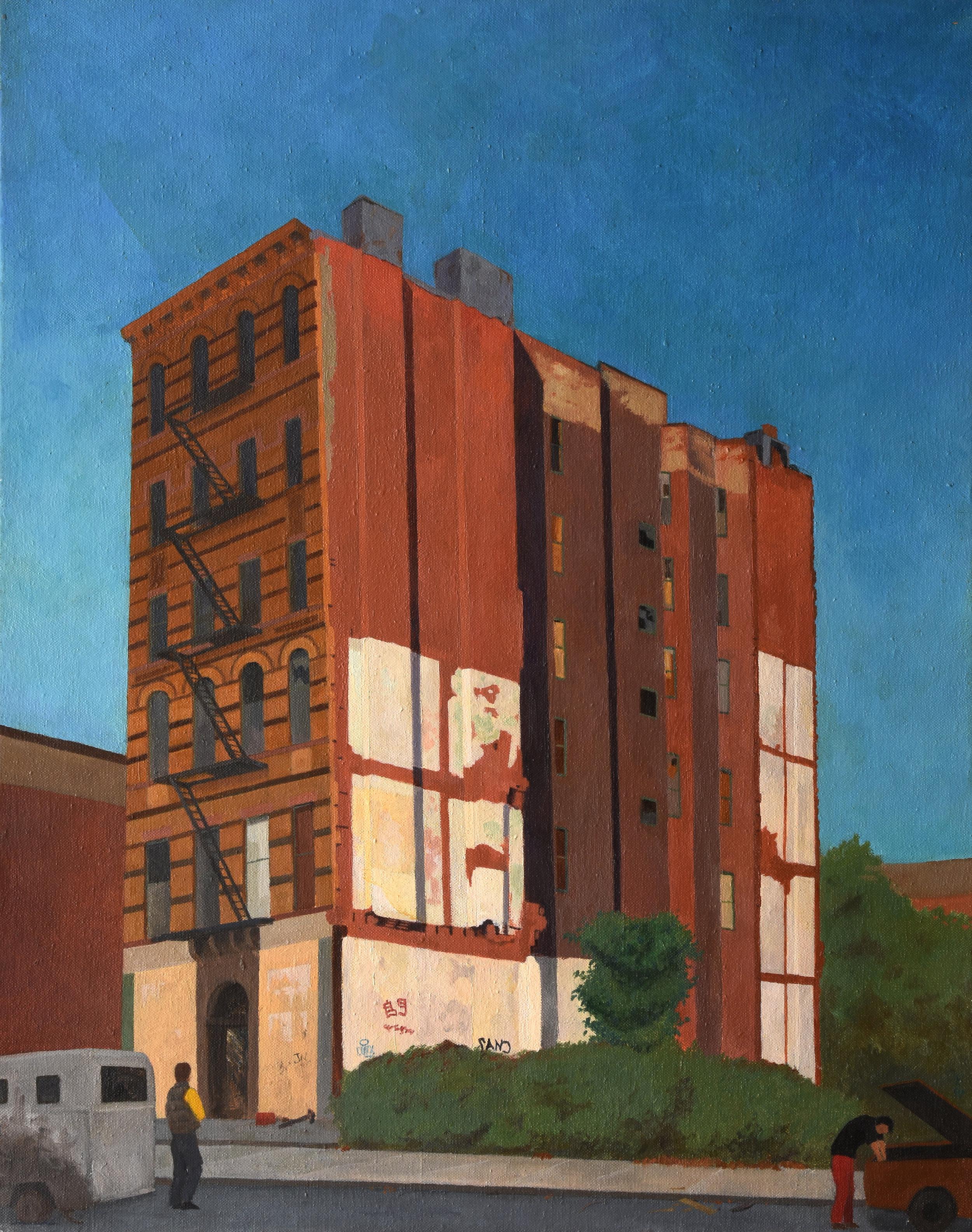 """Ruins on Forsyth Street, oil on canvas, 30"""" x 24"""""""
