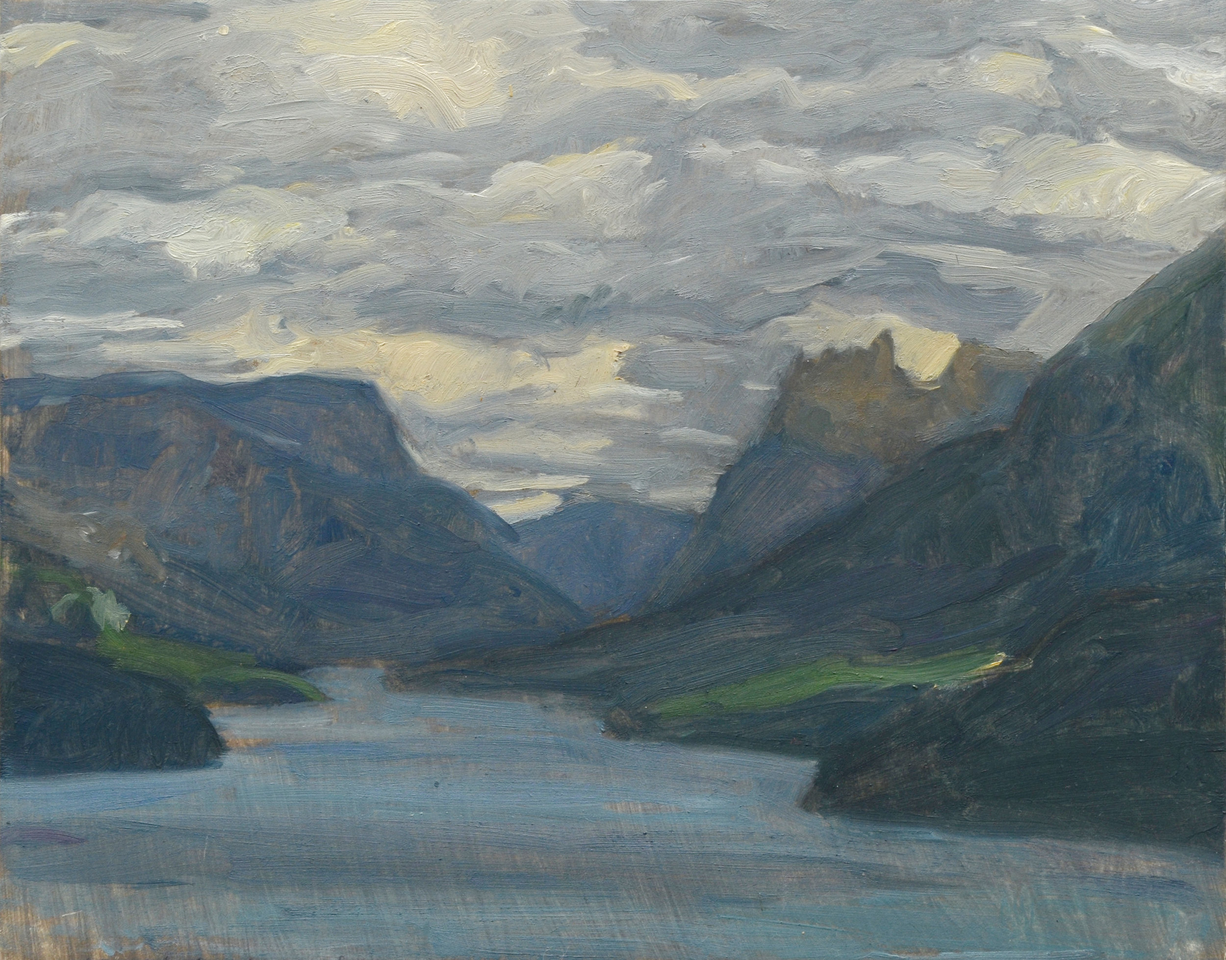 """Stormy Weather Price of Wales, oil on panel, 8"""" x 10"""""""
