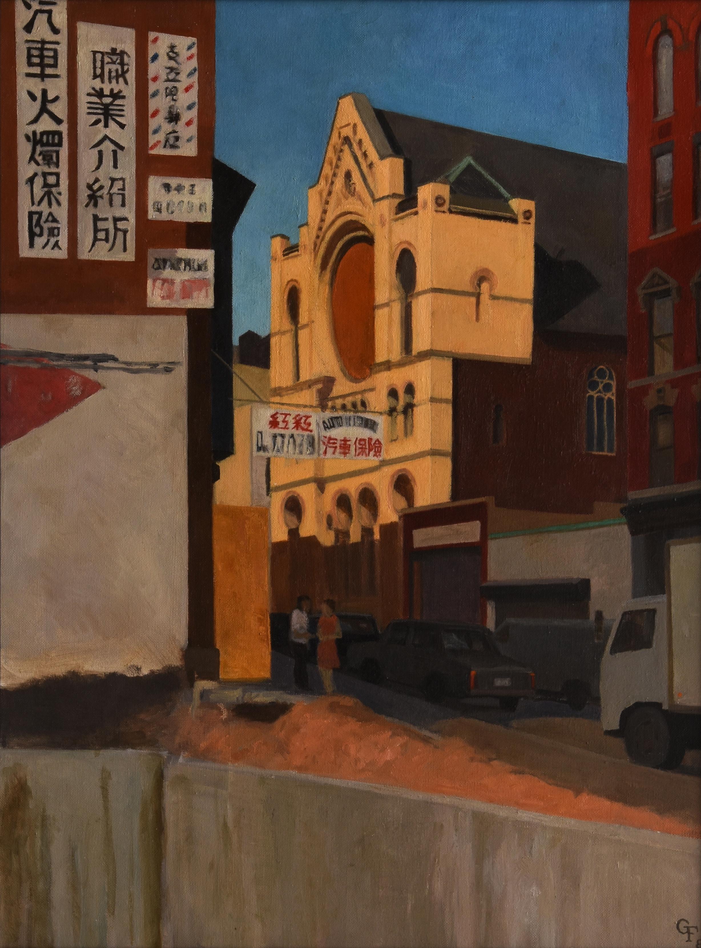 """Eldridge Street Syngoge, oil on canvas, 24"""" x 18"""""""
