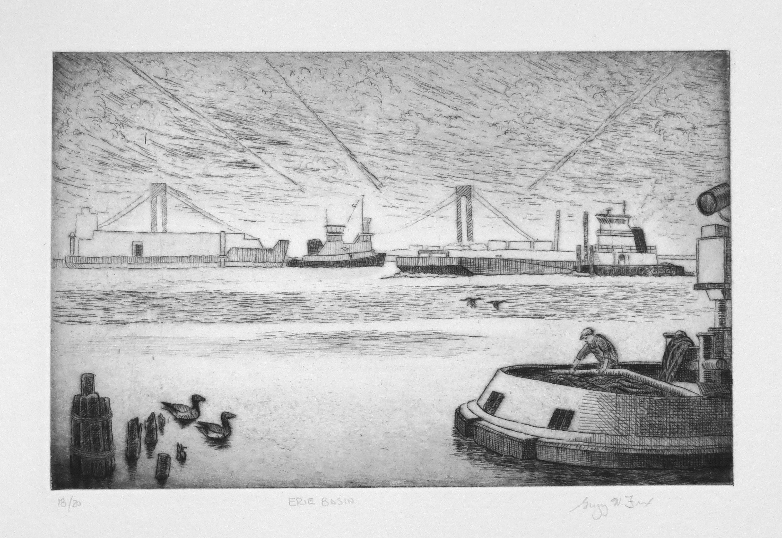 Erie Basin, etching
