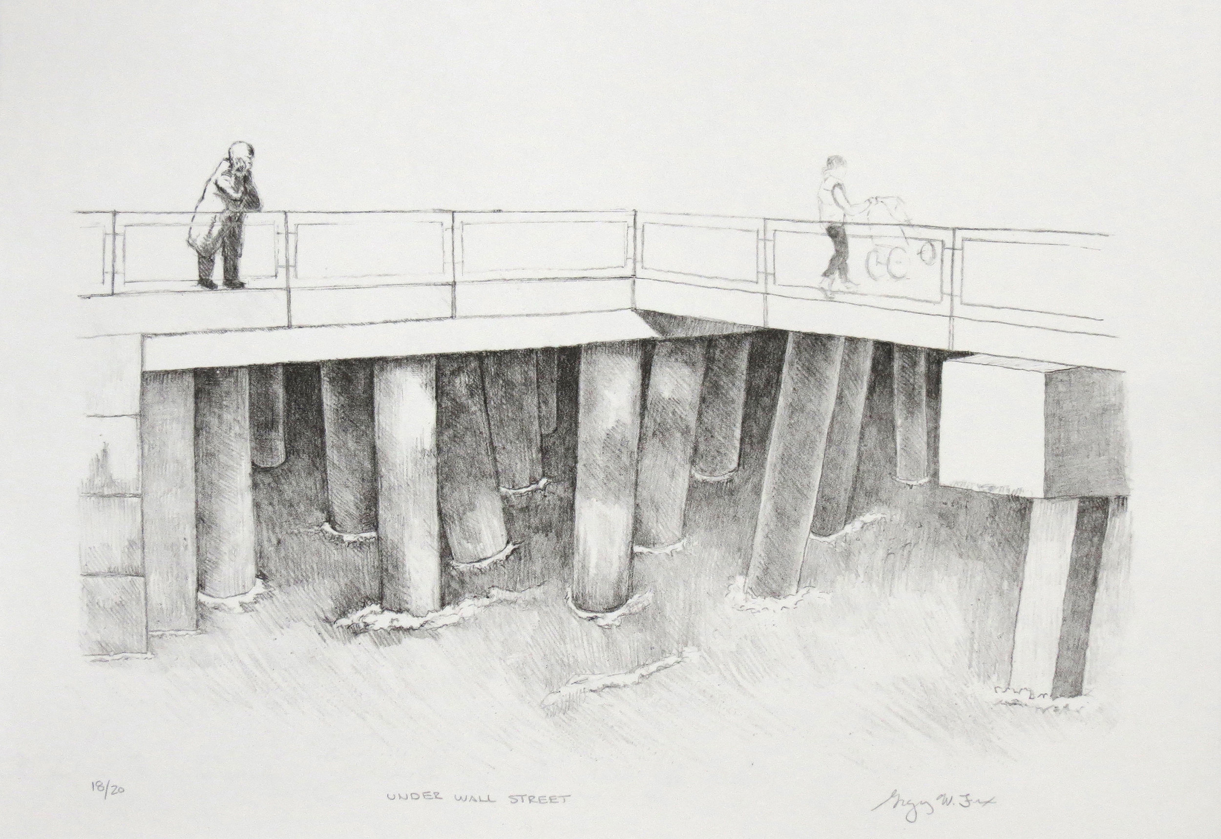 Under Wall Street, lithograph