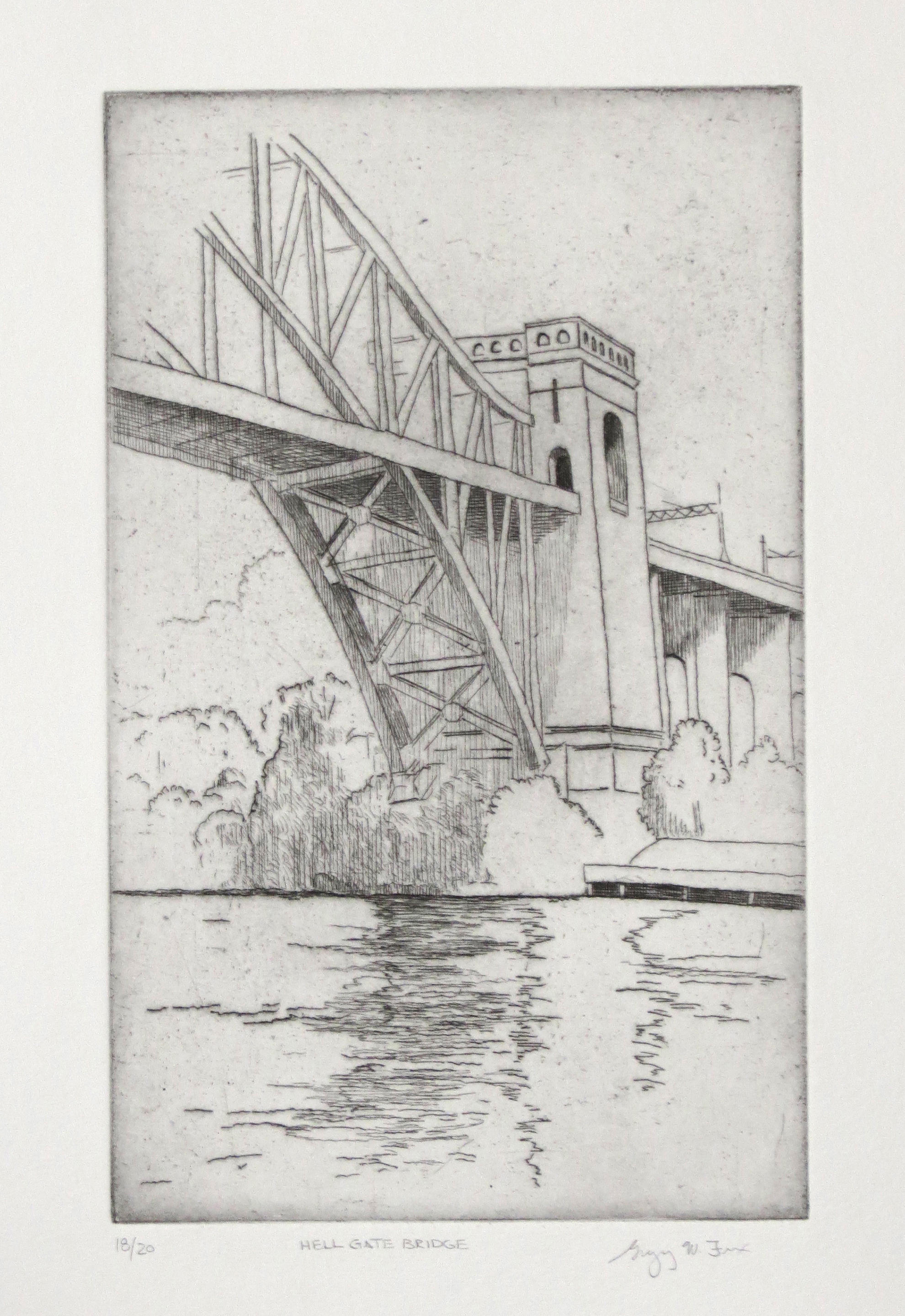 Hell Gate Bridge, etching