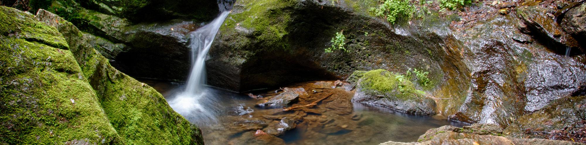 waterfall into calm pool