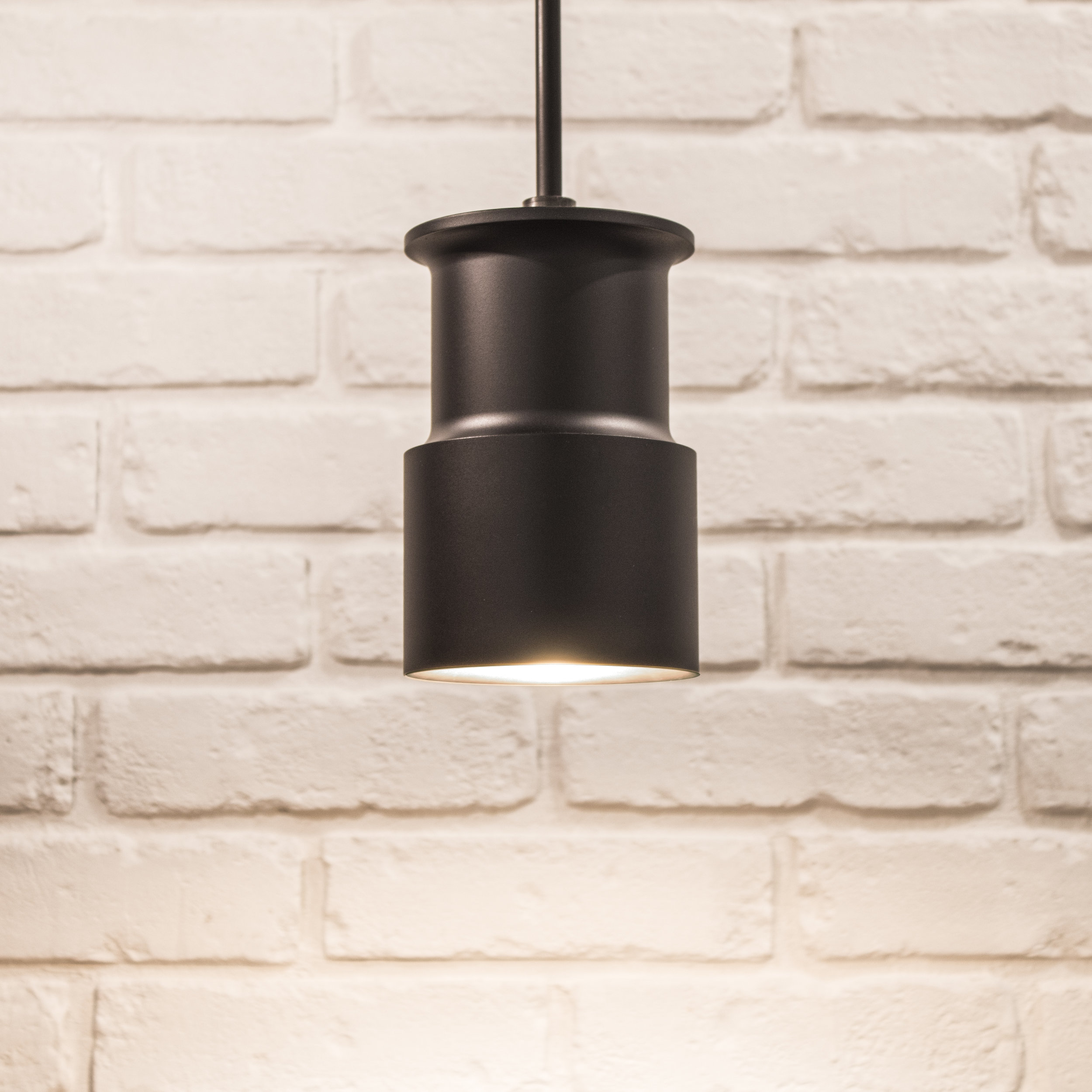 Bowden Pendant in Black Satin Finish