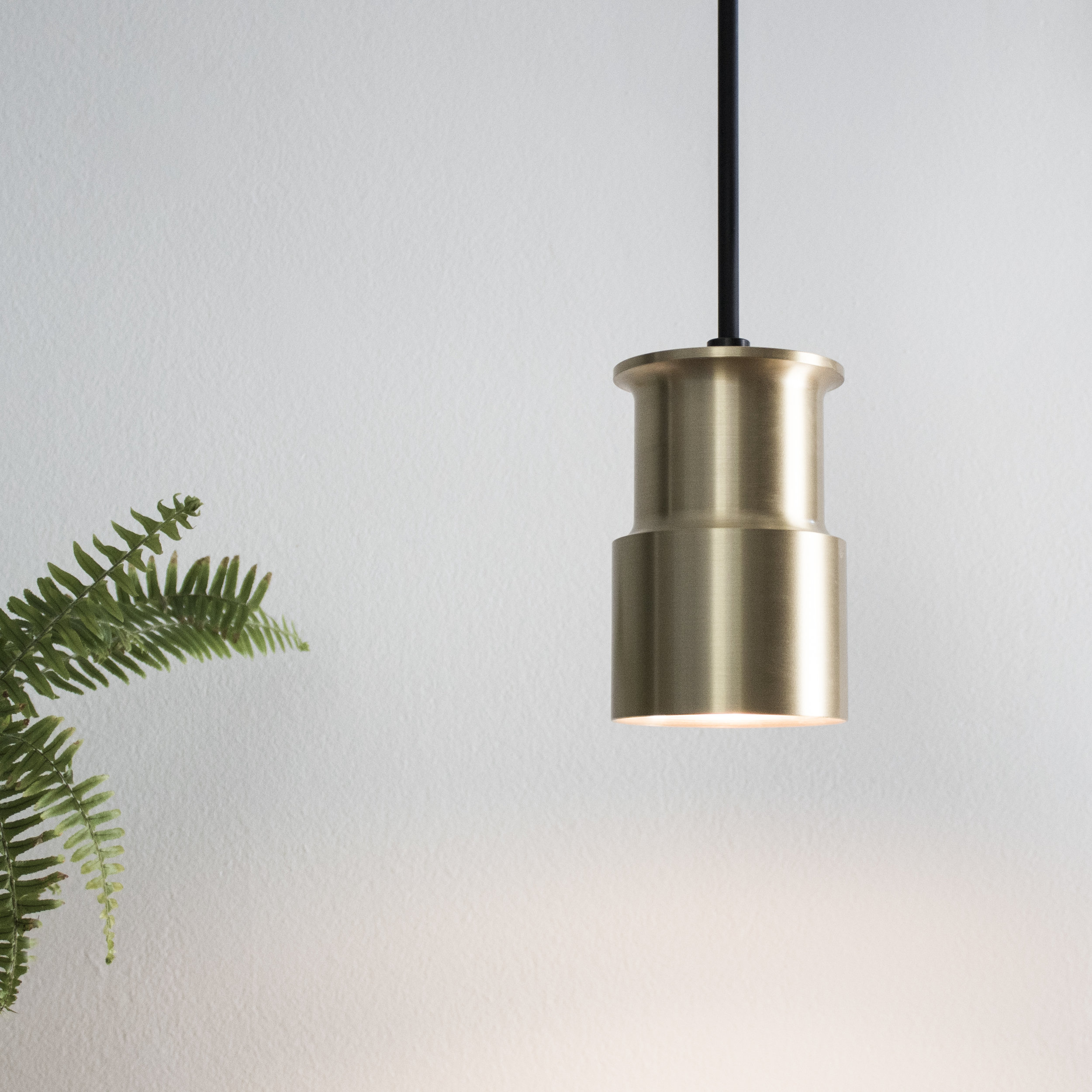 Bowden Pendant in Natural Brass Finish