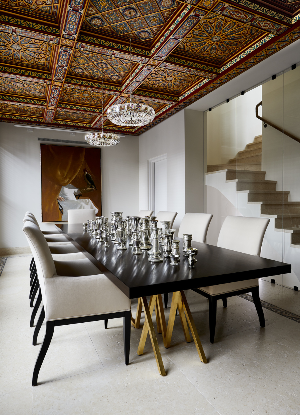 'BLAZE' DINING TABLE. In a private residence. Photo by Michael Garnacki.