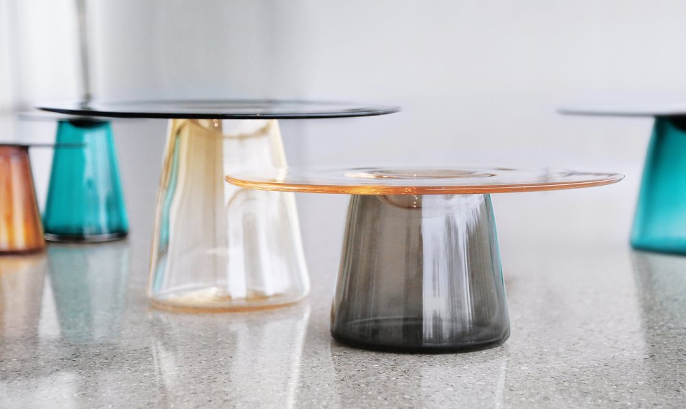 """""""Layering Transparency"""" Table Top Objects by Nina Cho. Price Upon Request."""