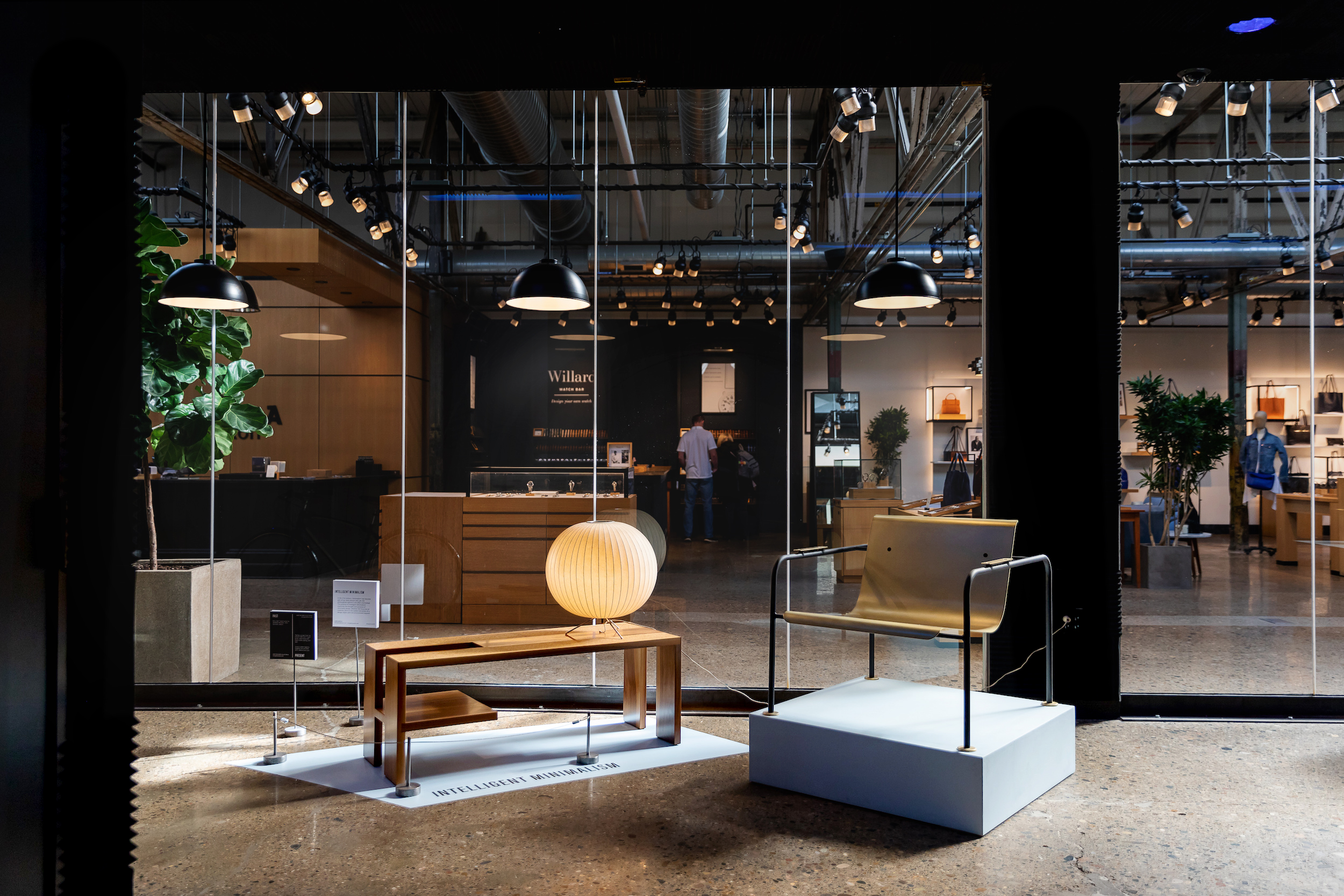 SHAPE Preview Exhibition at the Shinola Flagship Store for Detroit Month of Design 2018. Featuring Works by George Nelson, DuBois Collection and Colin Tury.  Photo x Michelle and Chris Gerard.