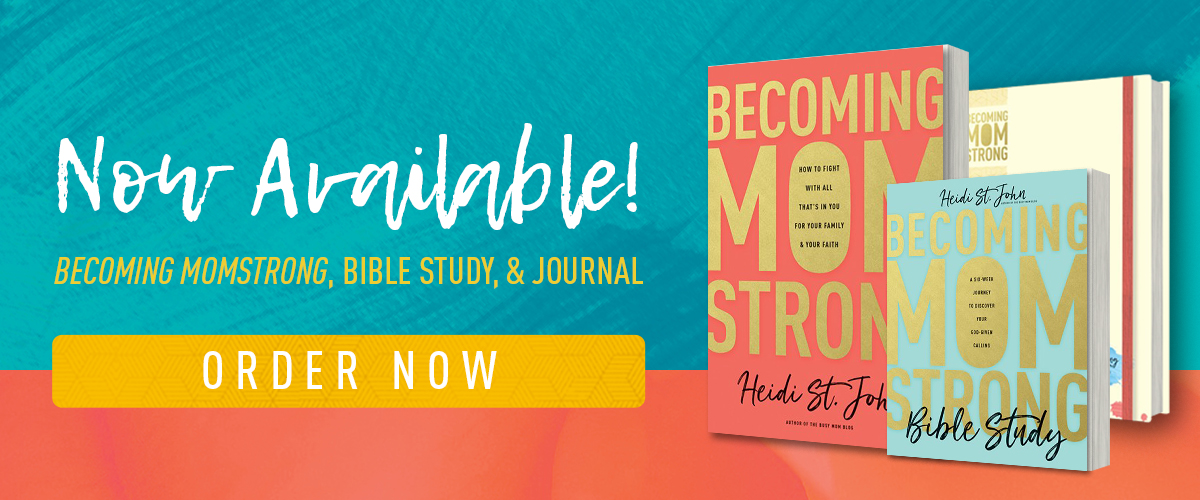 "Order ""Becoming Mom Strong"" now!"