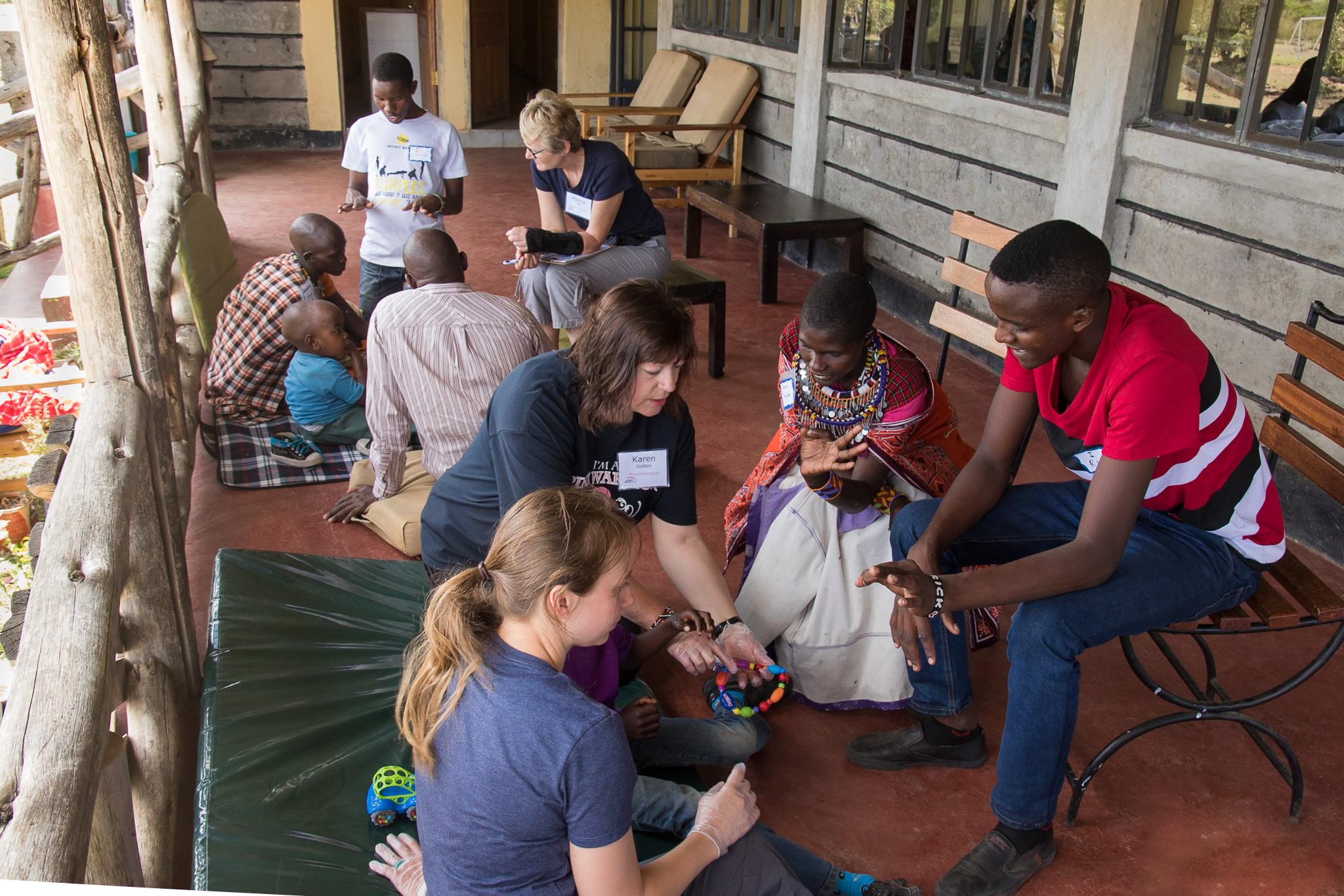 healthcare volunteers in the maasai mara
