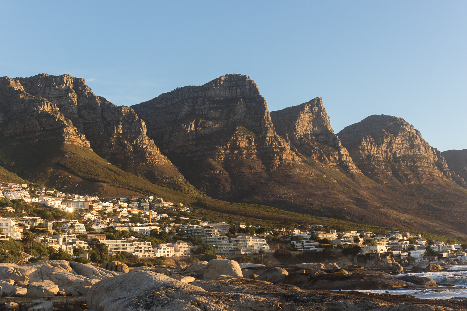 mountain sunset in cape town
