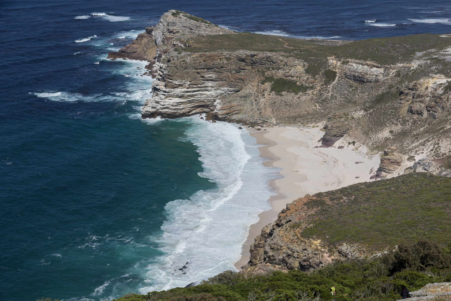 cape point beach from above