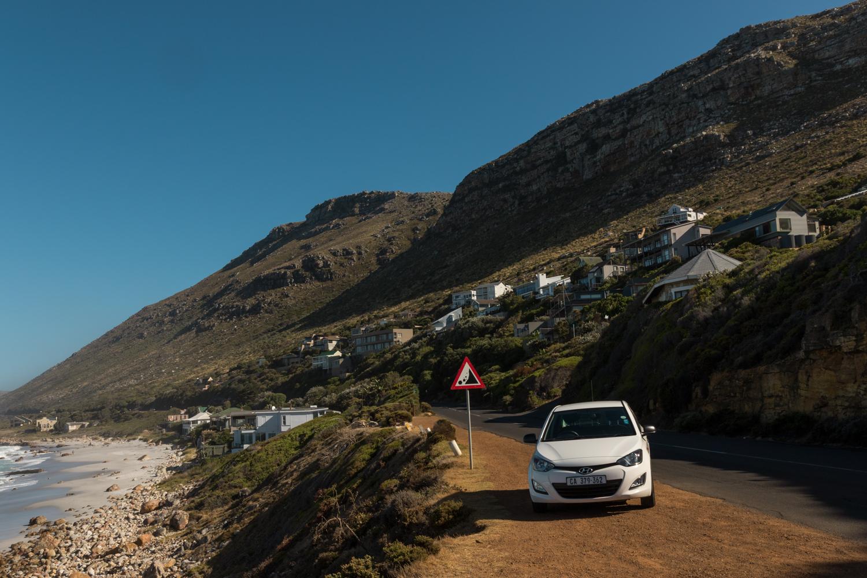coastline along cape peninsula drive