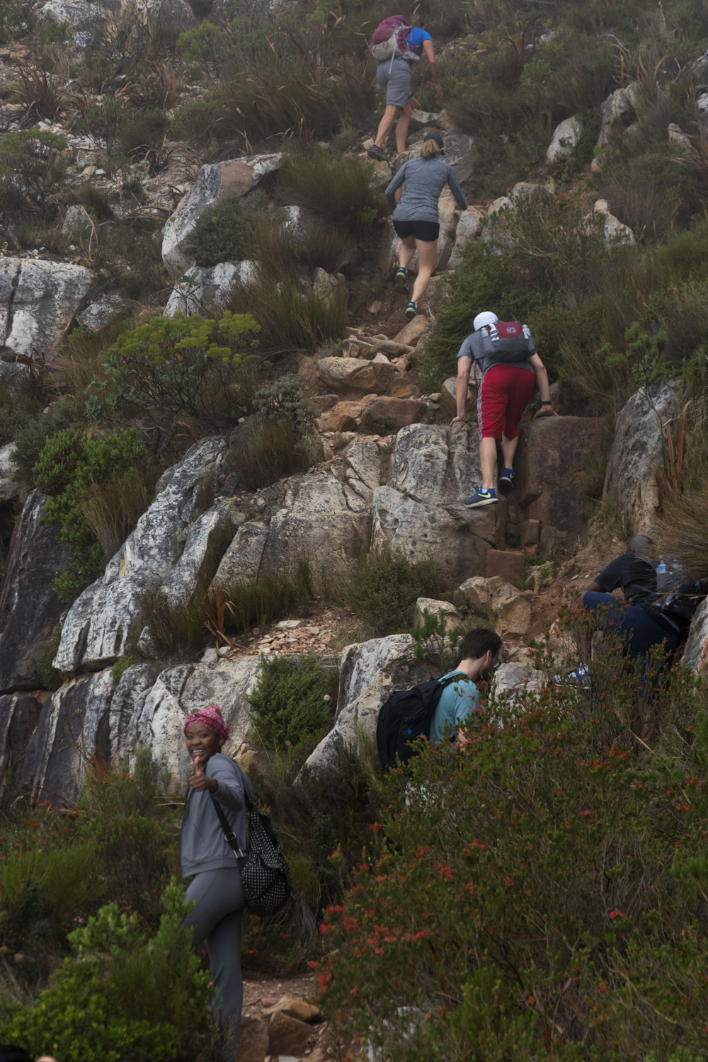 hikers on table mountain