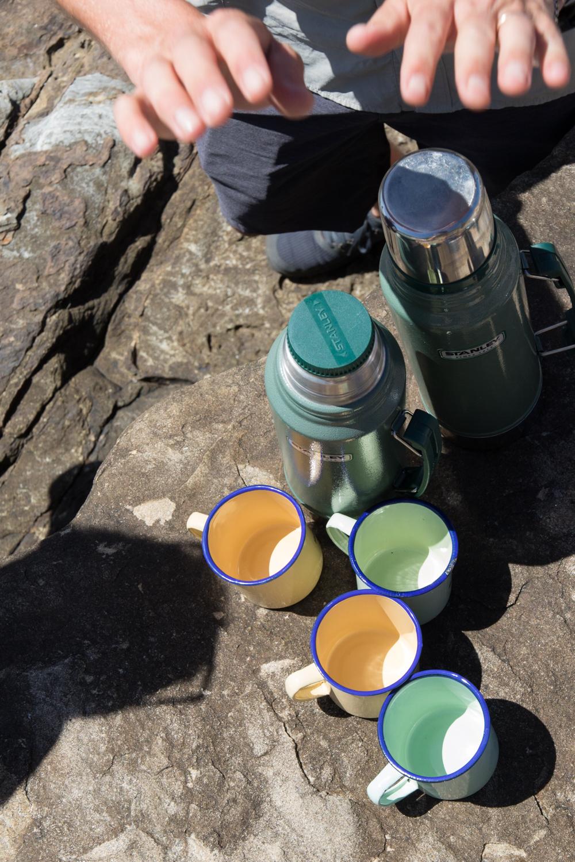 rooibos tea and mugs