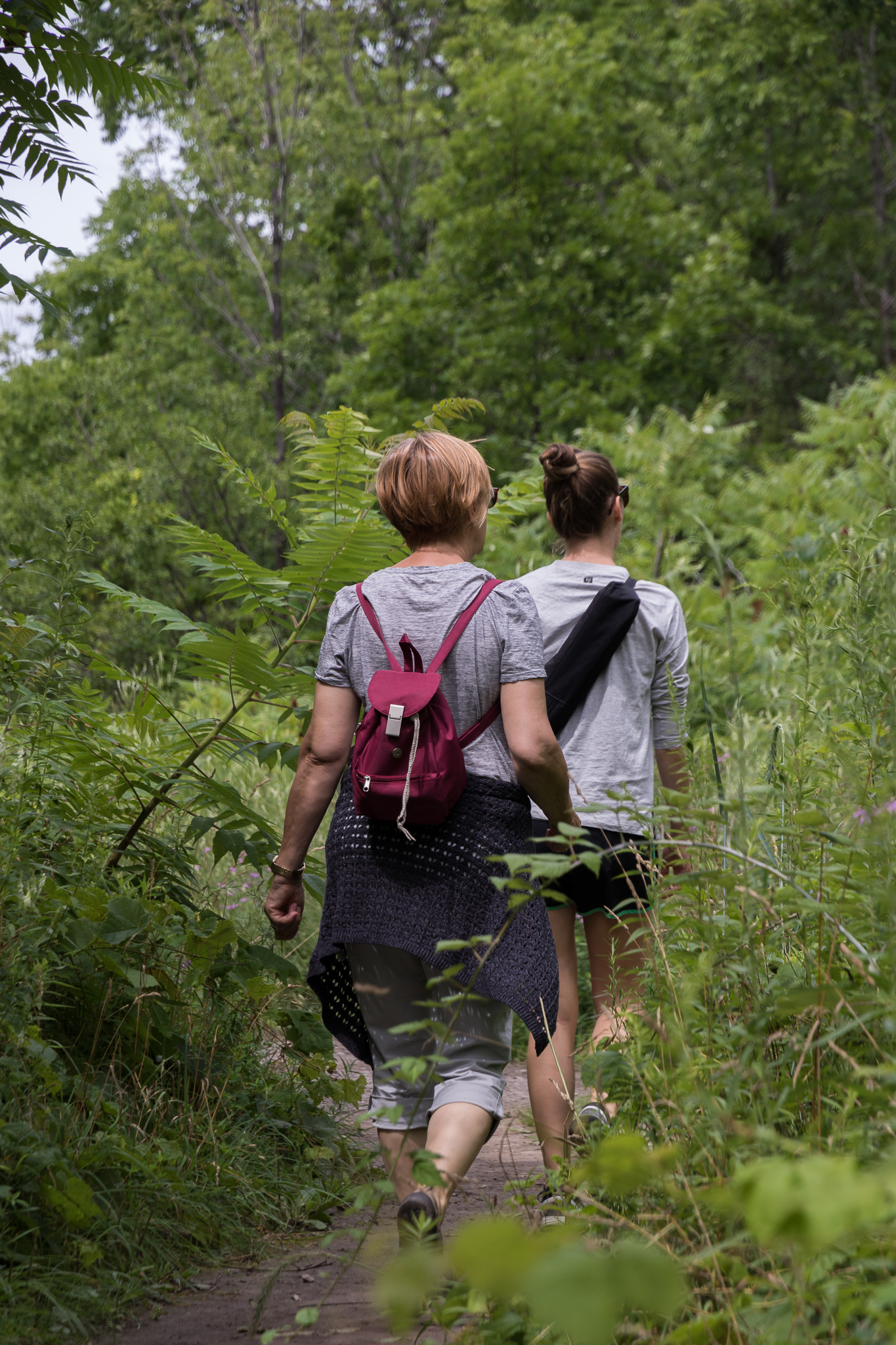 women hiking in the ontario