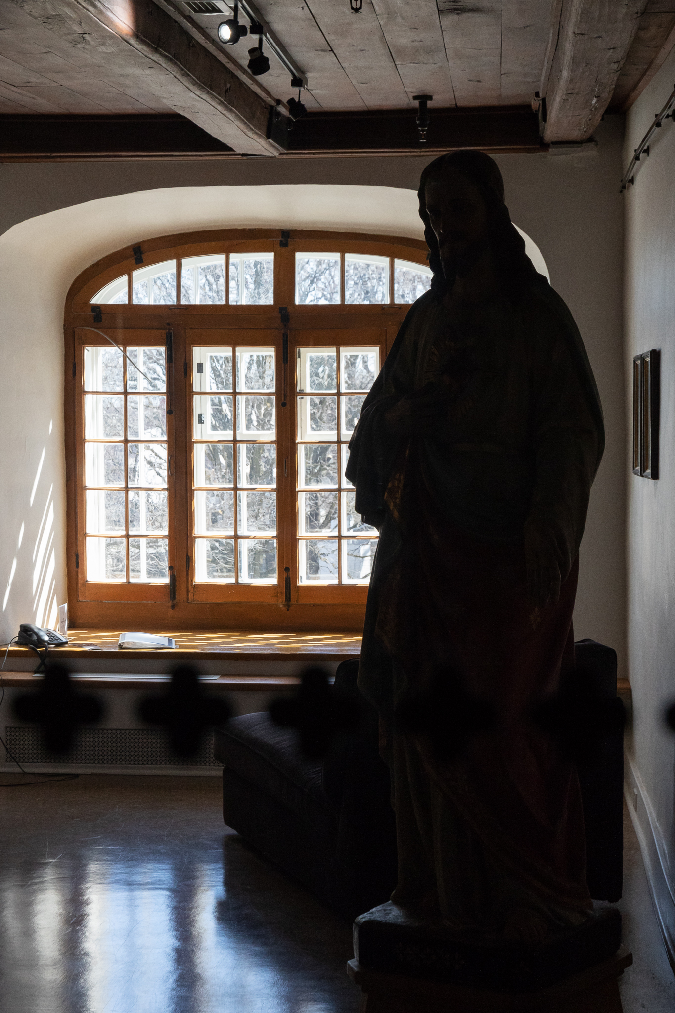 quiet corner of monastery hotel