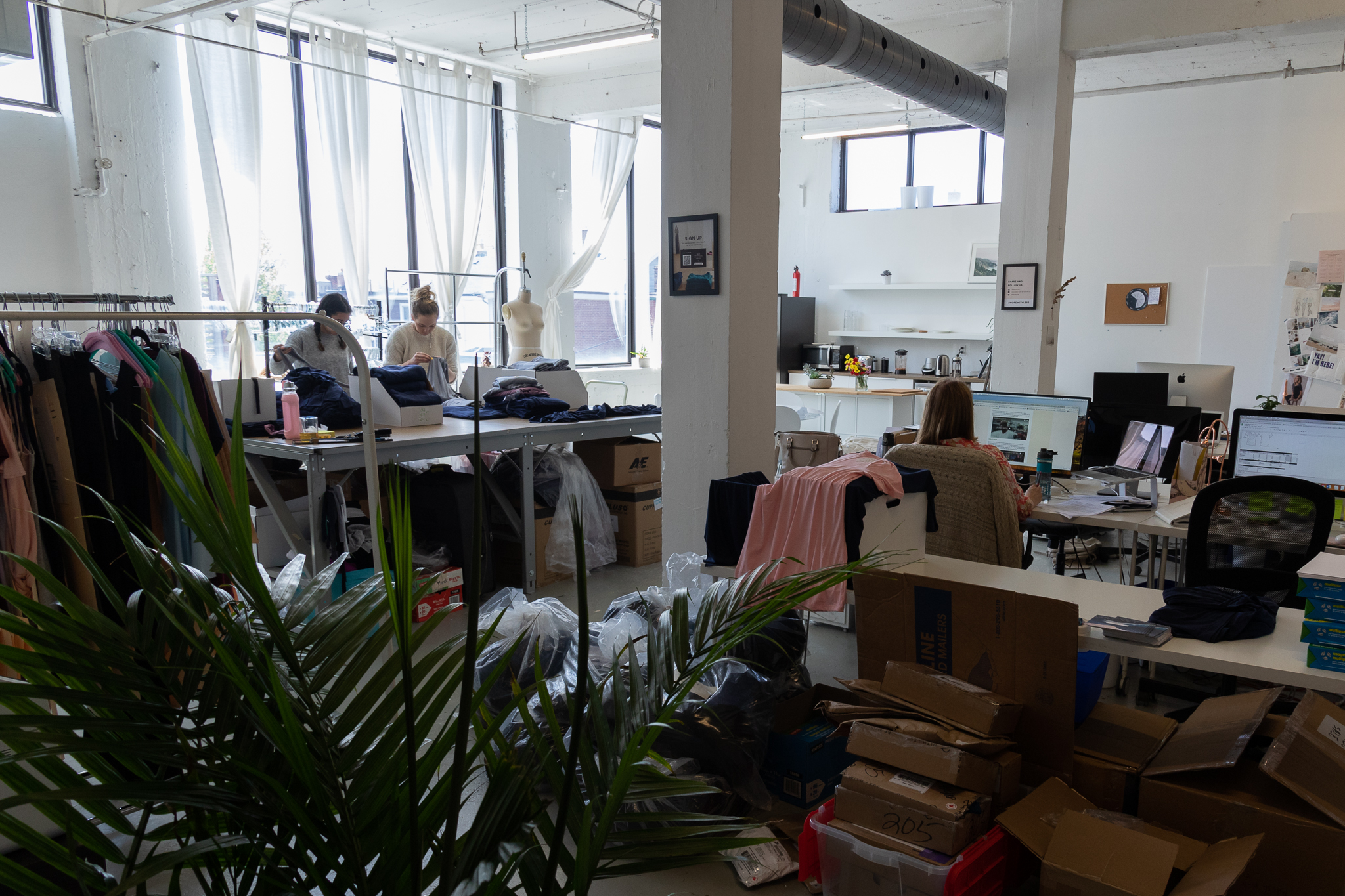 encircled clothing staff working at the toronto office