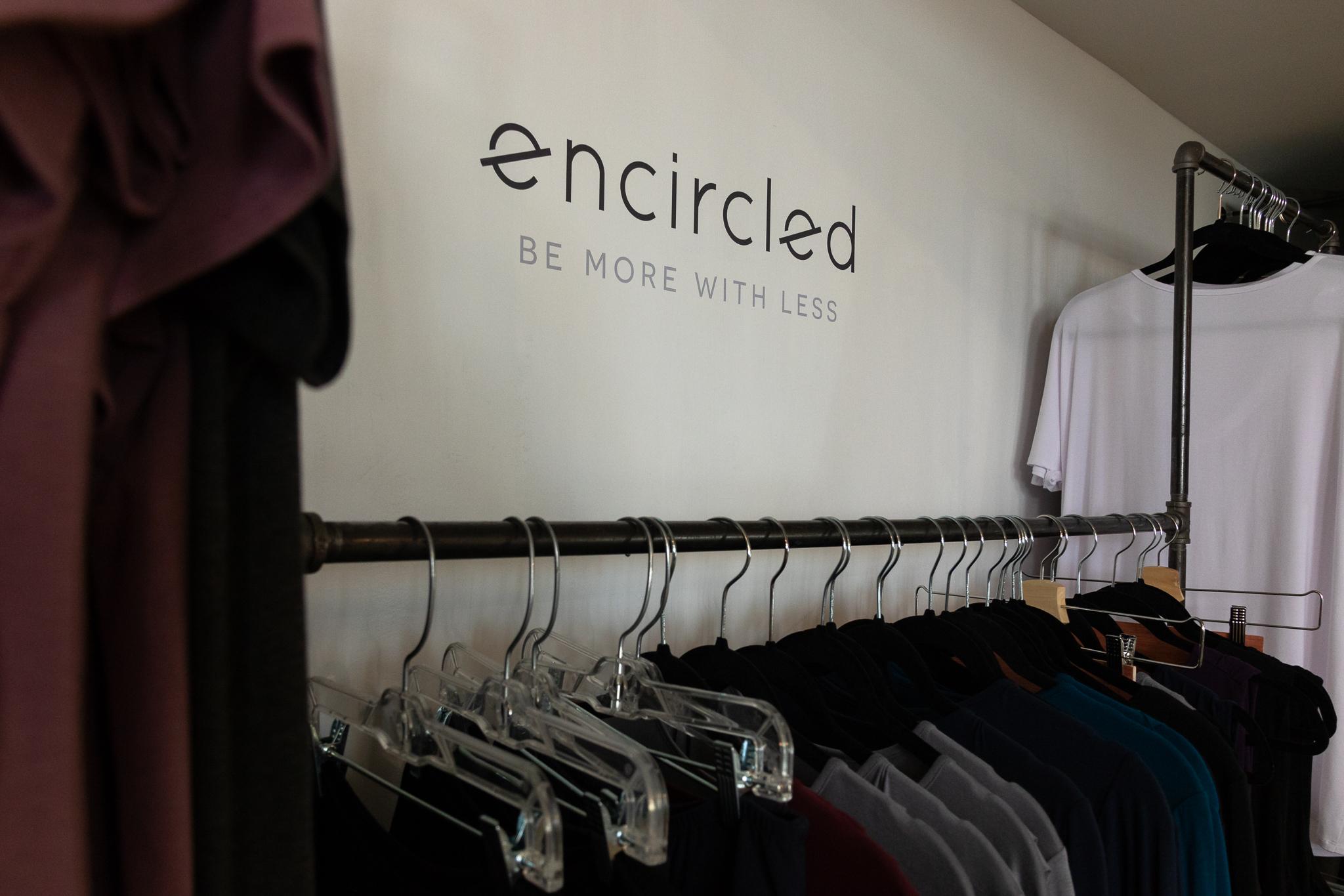 clothing rack at encircled studio shop in toronto