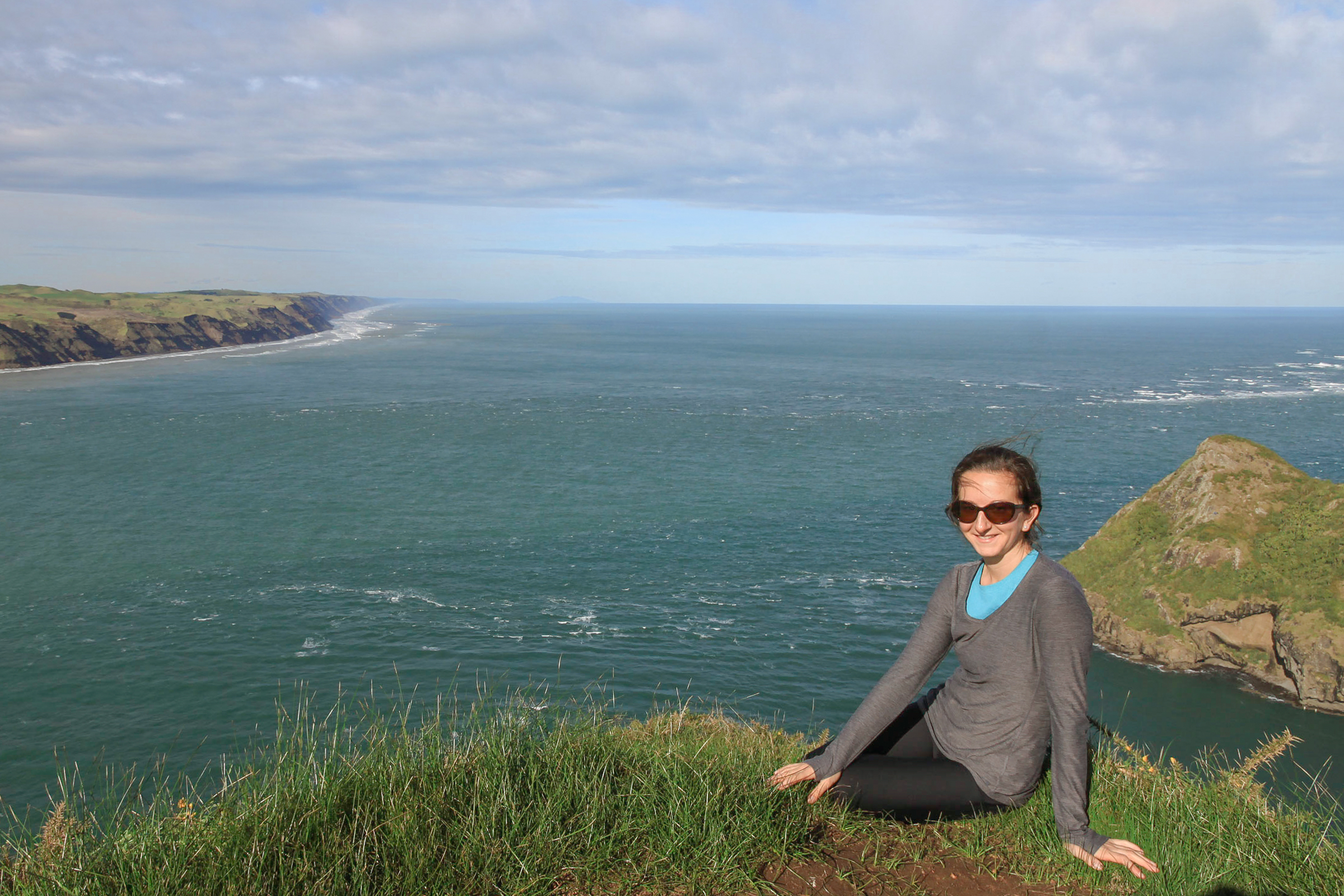 scenic coastal views during a hike in auckland new zealand