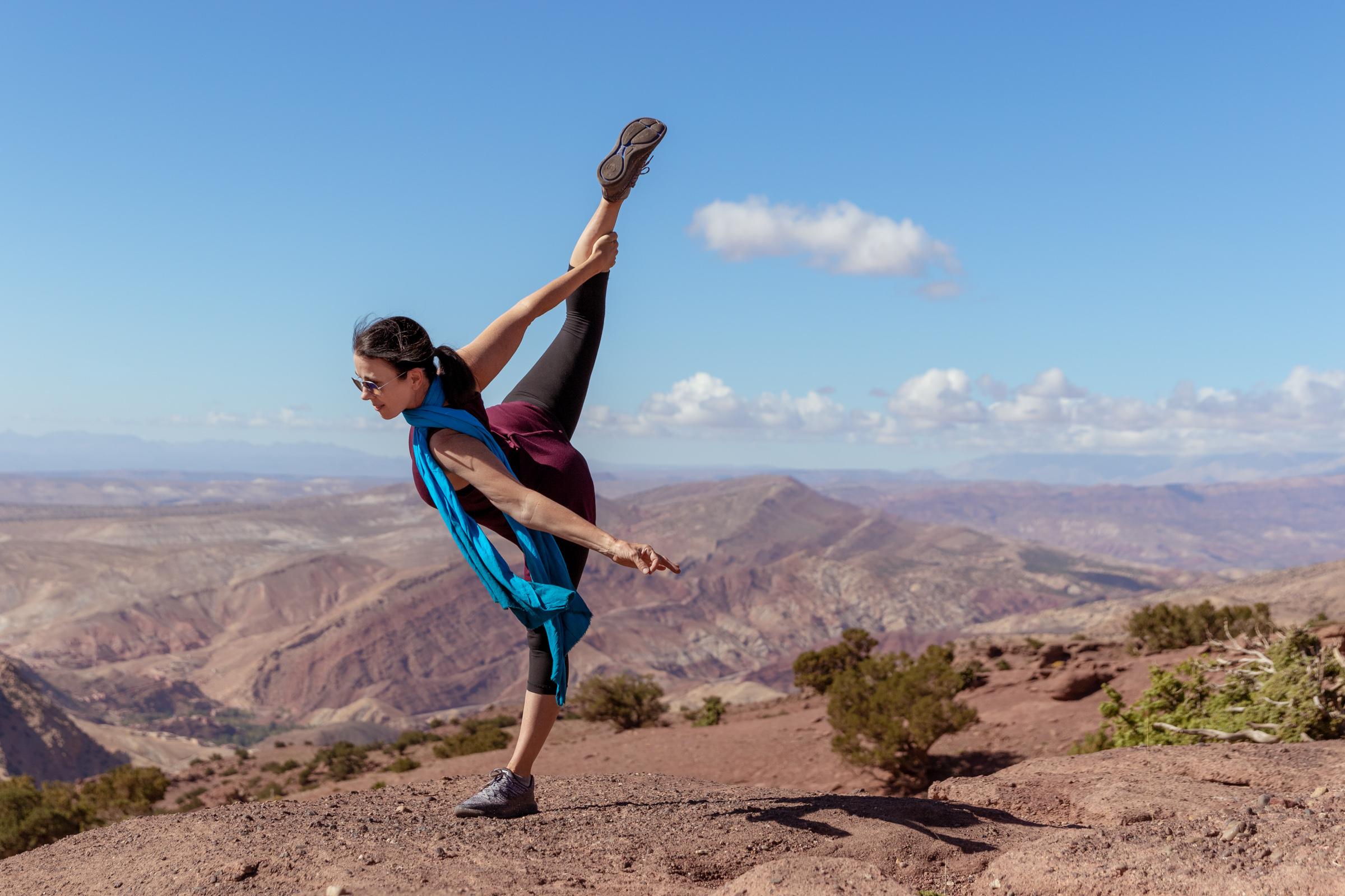 yoga outdoors, Morocco