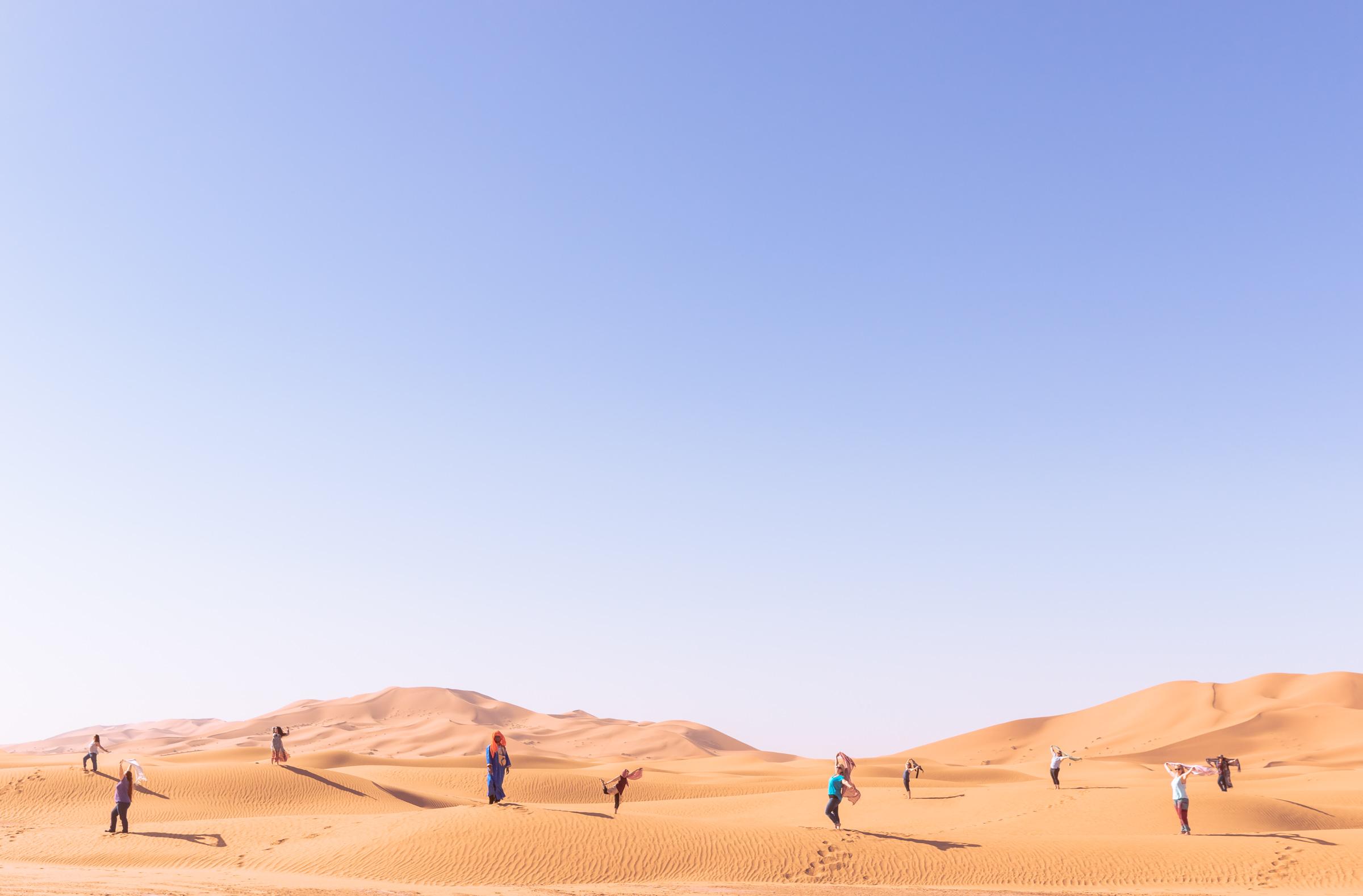 Sahara sand dunes, Morocco