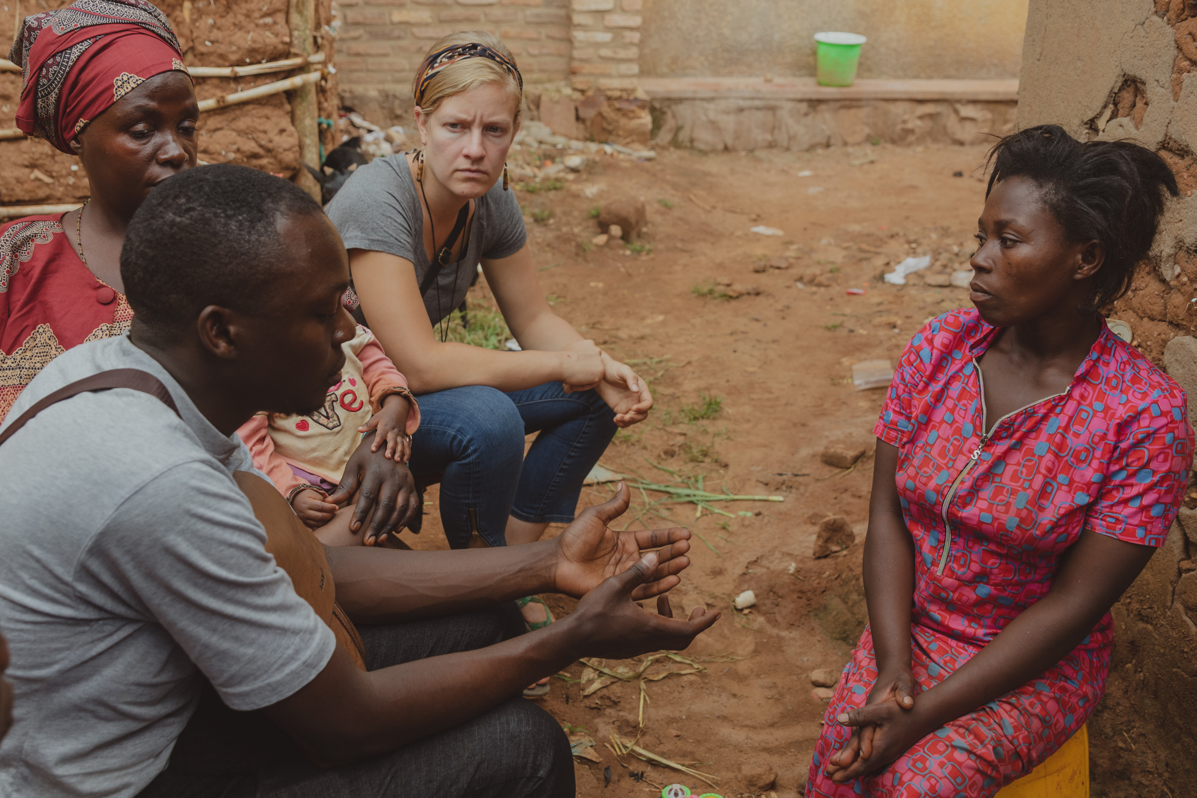 rural rwanda meeting with a disabled woman