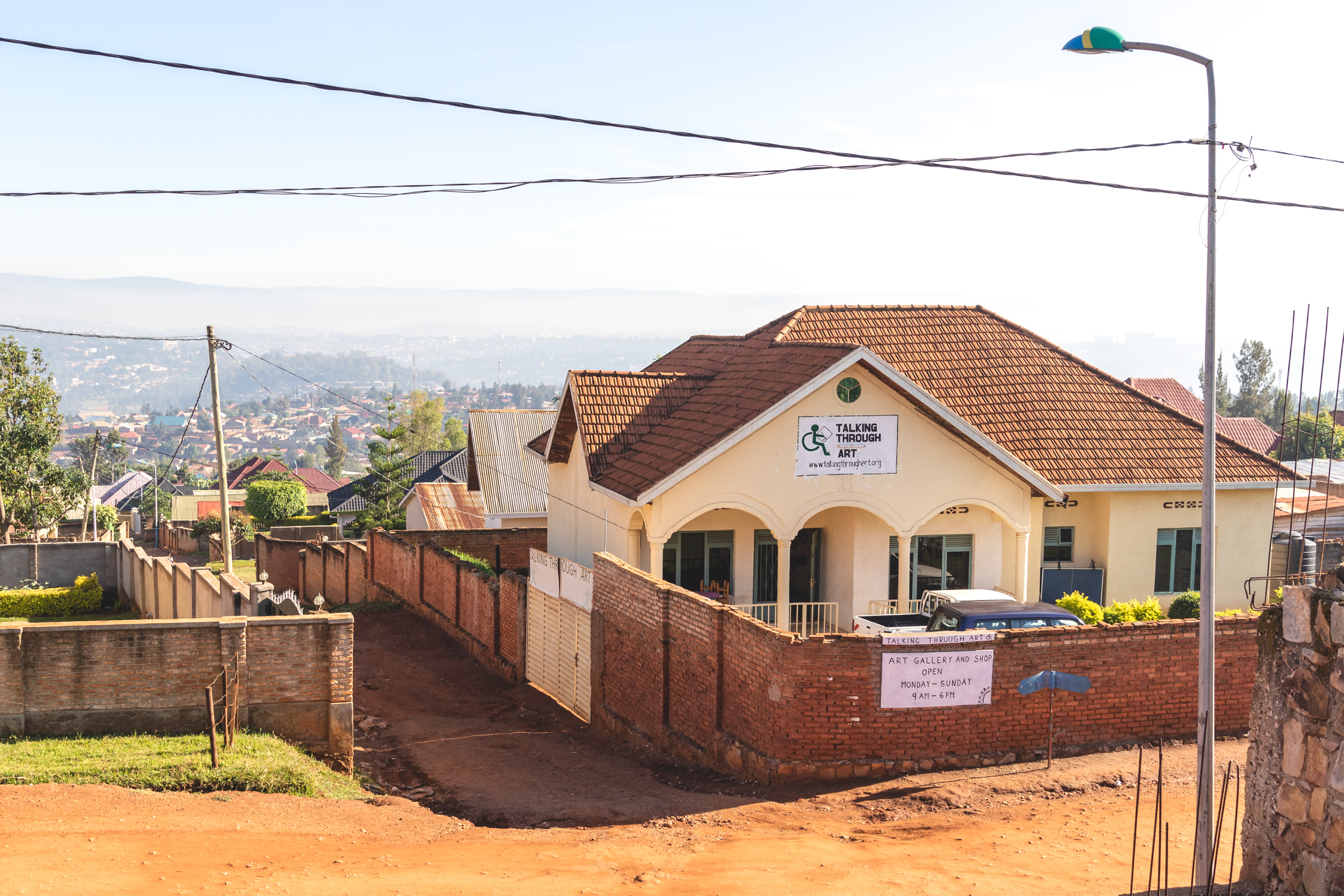 talking through art ngo headquarters in kigali