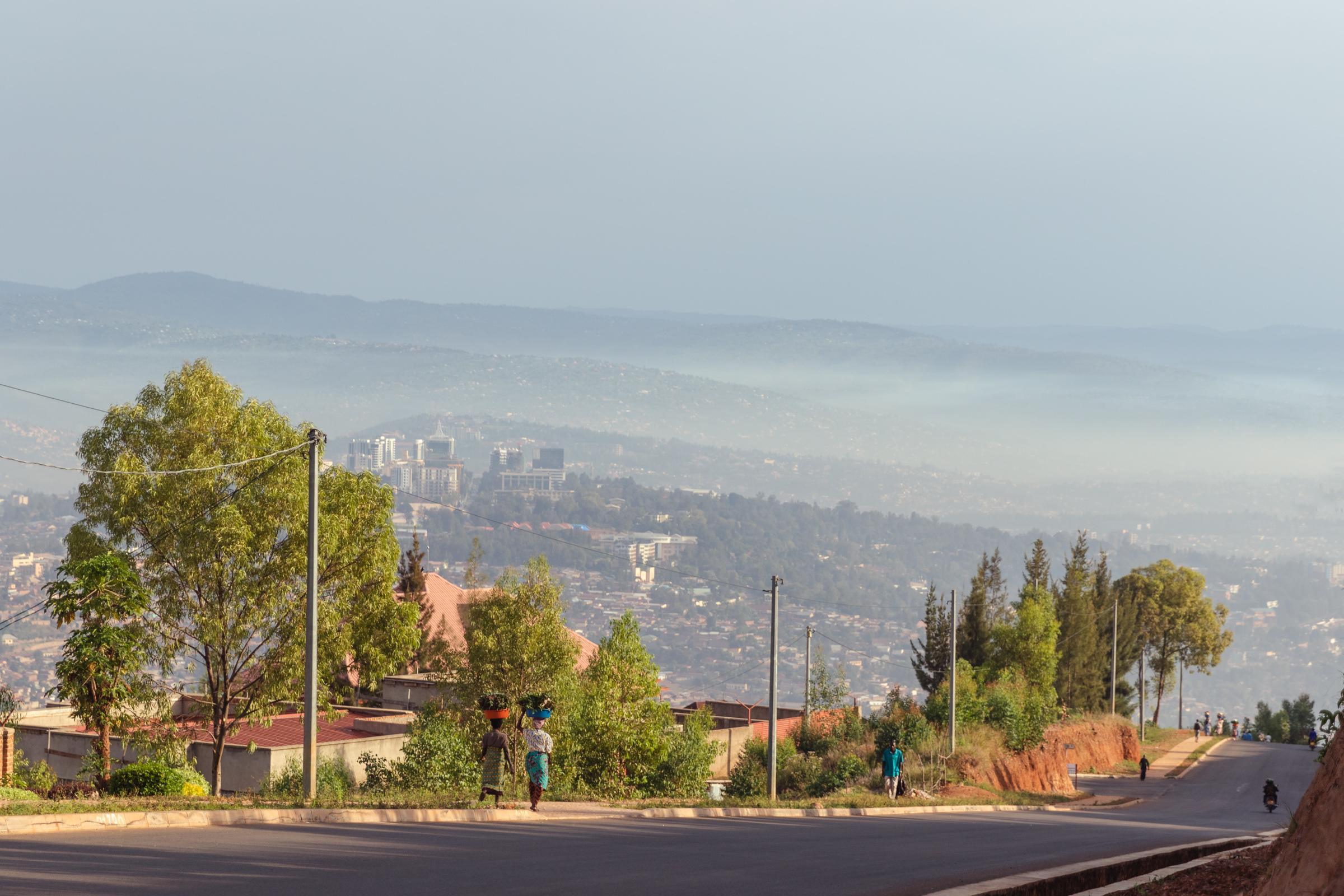 morning walking traffic in kigali rwanda