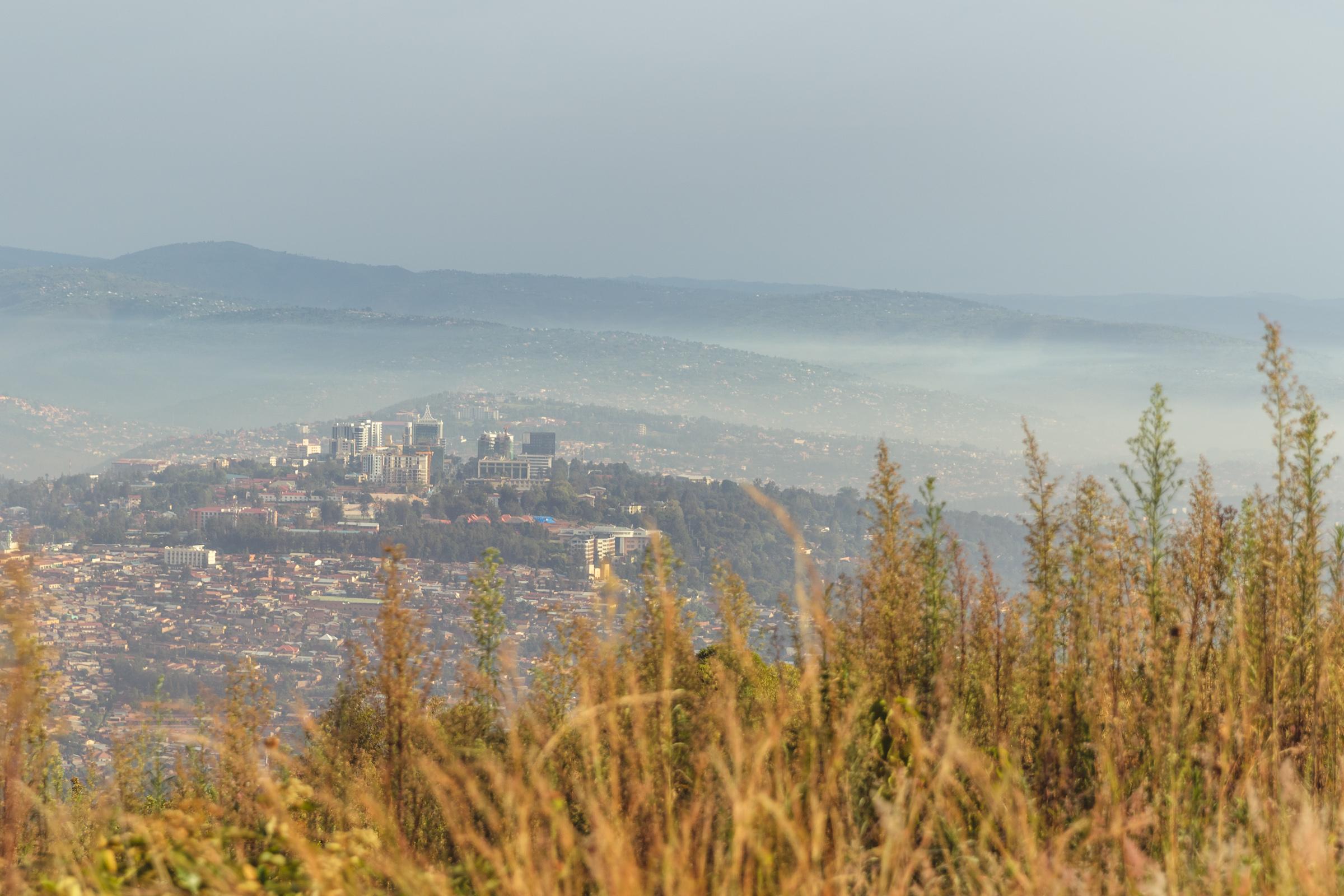 sunrise in kigali rwanda